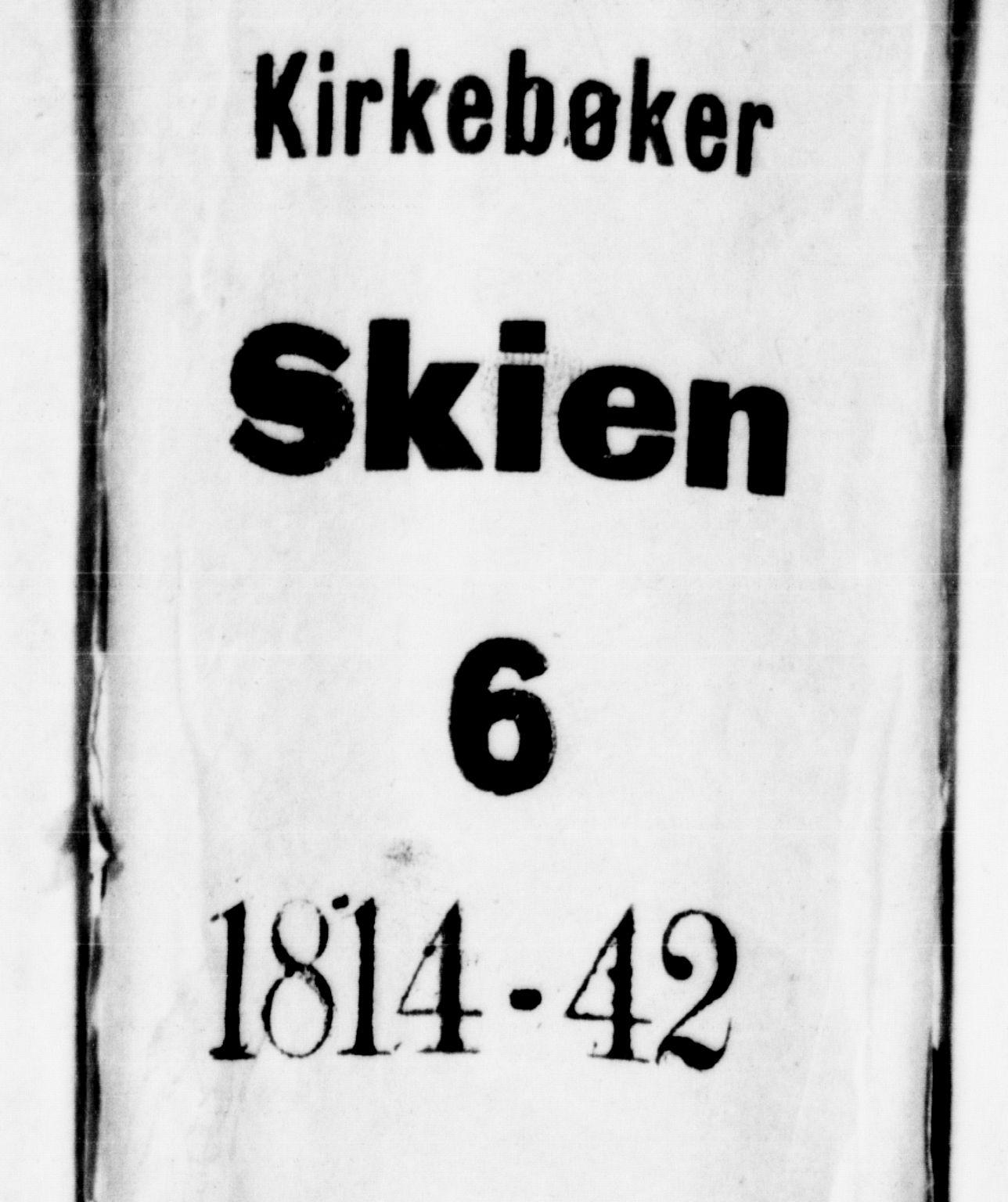SAKO, Skien kirkebøker, G/Ga/L0002: Klokkerbok nr. 2, 1814-1842