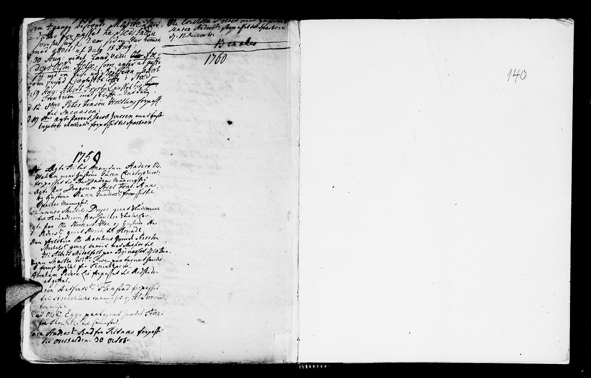 SAT, Ministerialprotokoller, klokkerbøker og fødselsregistre - Nord-Trøndelag, 746/L0439: Ministerialbok nr. 746A01, 1688-1759, s. 140