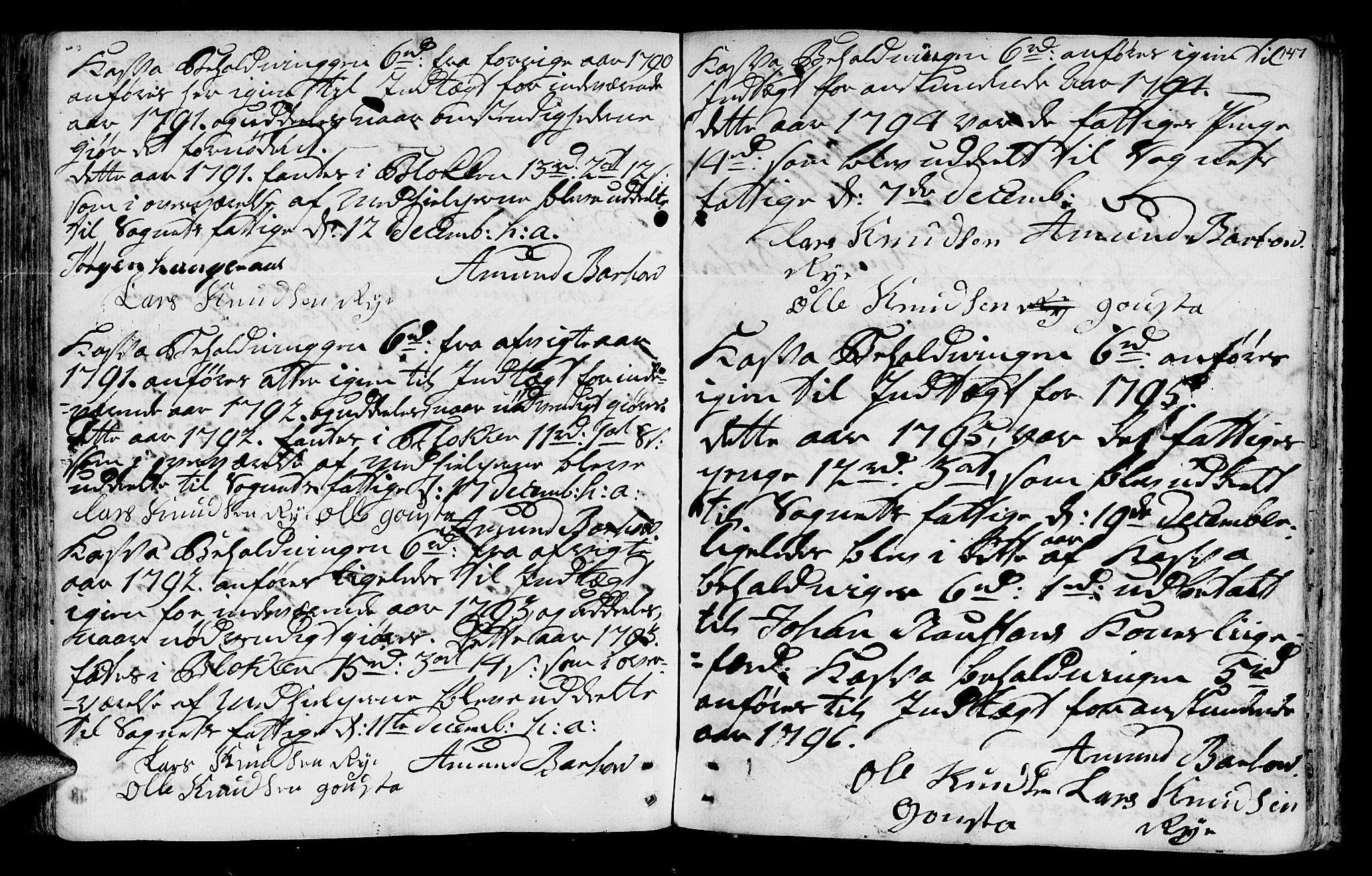 SAT, Ministerialprotokoller, klokkerbøker og fødselsregistre - Sør-Trøndelag, 612/L0370: Ministerialbok nr. 612A04, 1754-1802, s. 147
