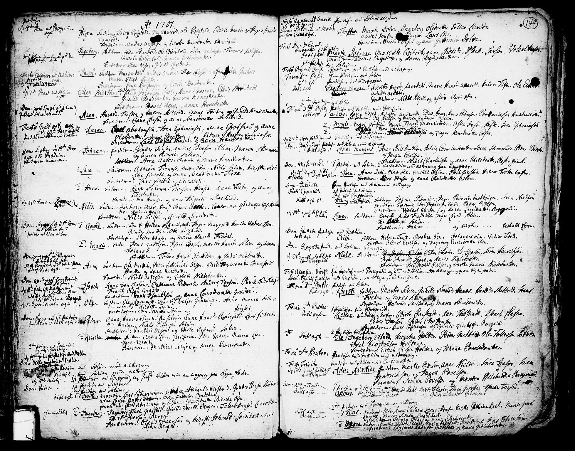 SAKO, Solum kirkebøker, F/Fa/L0002: Ministerialbok nr. I 2, 1713-1761, s. 144
