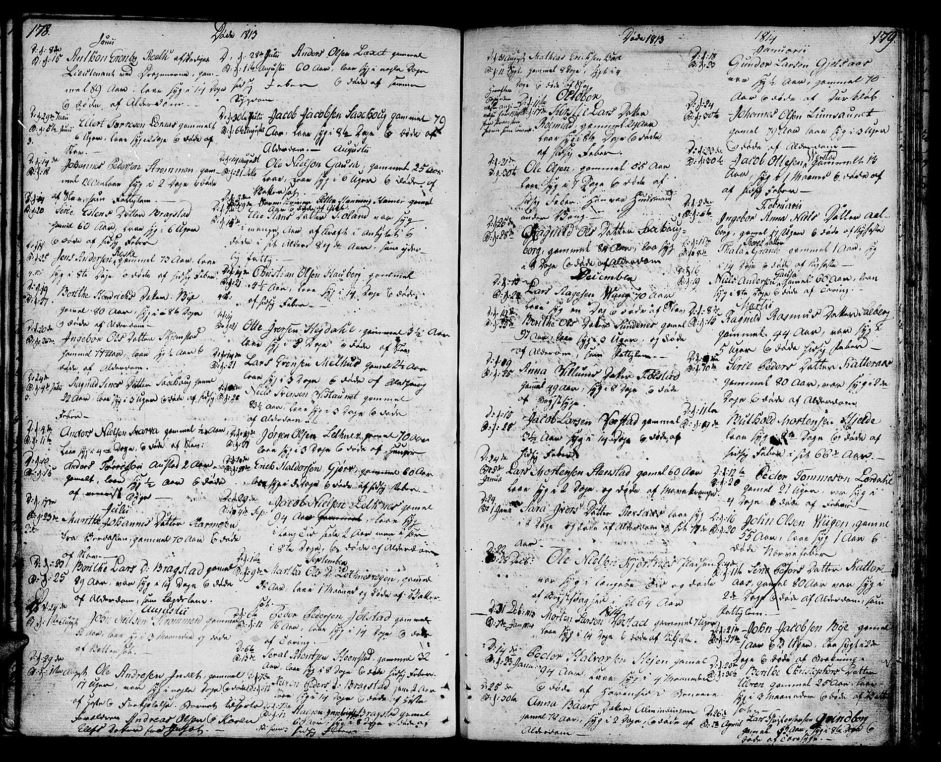 SAT, Ministerialprotokoller, klokkerbøker og fødselsregistre - Nord-Trøndelag, 730/L0274: Ministerialbok nr. 730A03, 1802-1816, s. 178-179