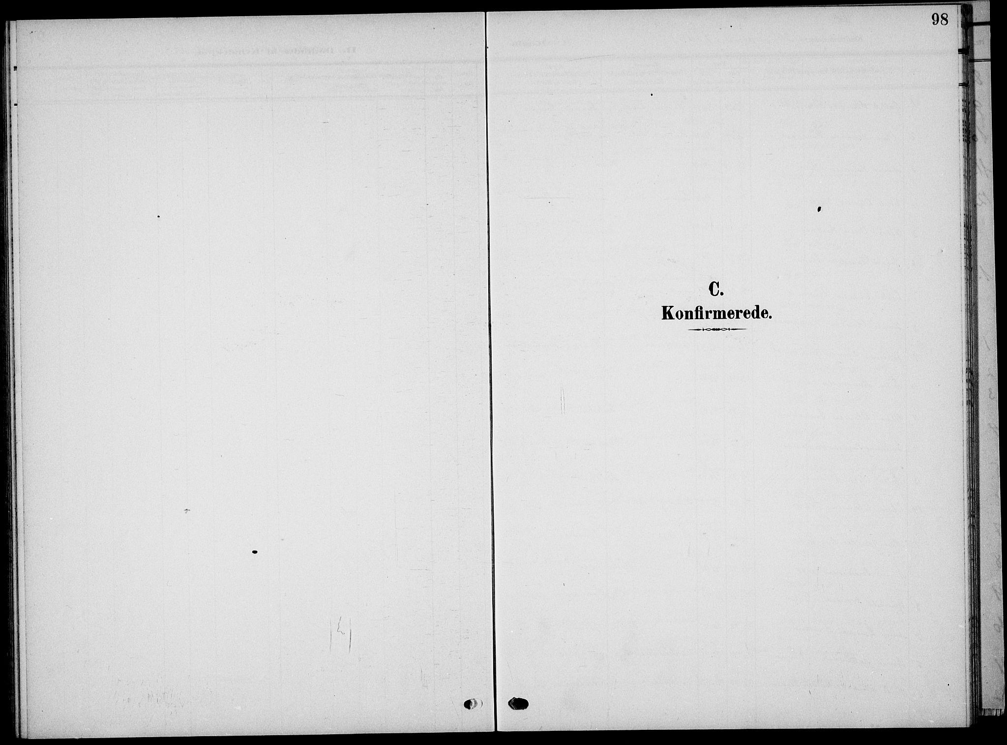 SAKO, Sauherad kirkebøker, G/Ga/L0004a: Klokkerbok nr. I 4, 1906-1934, s. 98