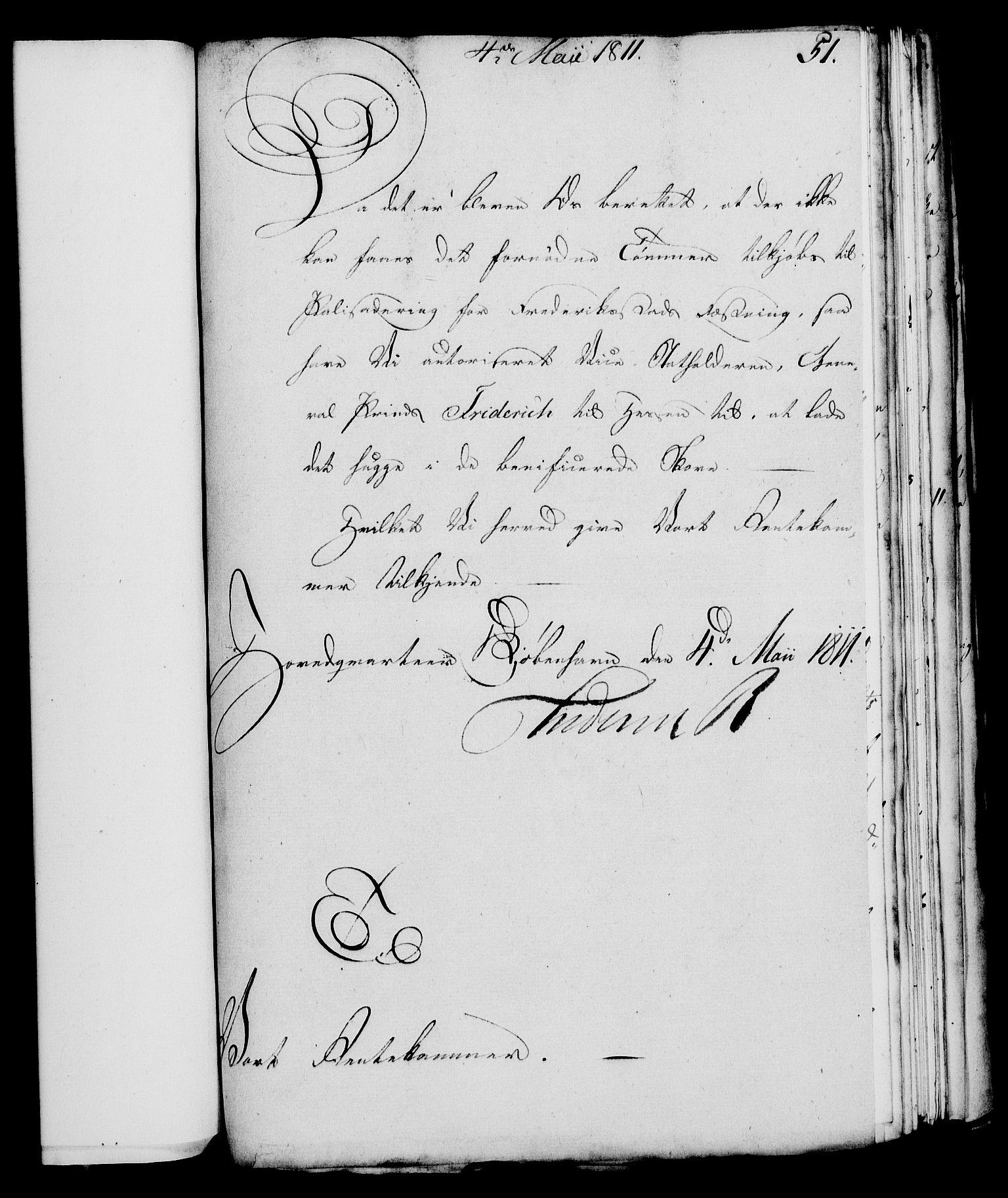 RA, Rentekammeret, Kammerkanselliet, G/Gf/Gfa/L0093: Norsk relasjons- og resolusjonsprotokoll (merket RK 52.93), 1811, s. 211