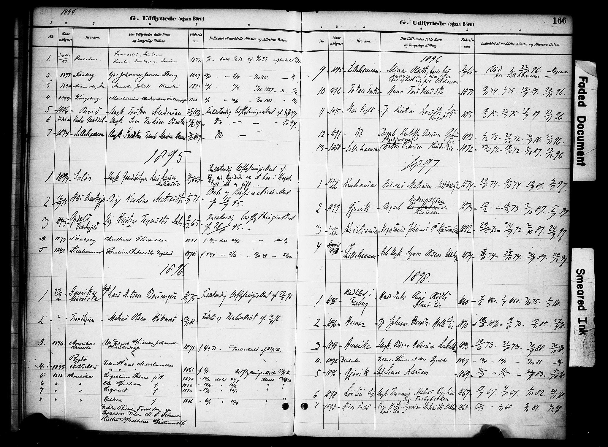 SAH, Ringsaker prestekontor, K/Ka/L0015: Ministerialbok nr. 15, 1891-1904, s. 166