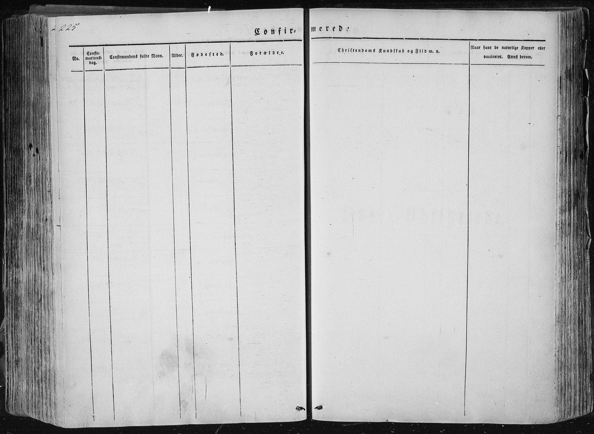 SAKO, Sannidal kirkebøker, F/Fa/L0007: Ministerialbok nr. 7, 1831-1854, s. 225
