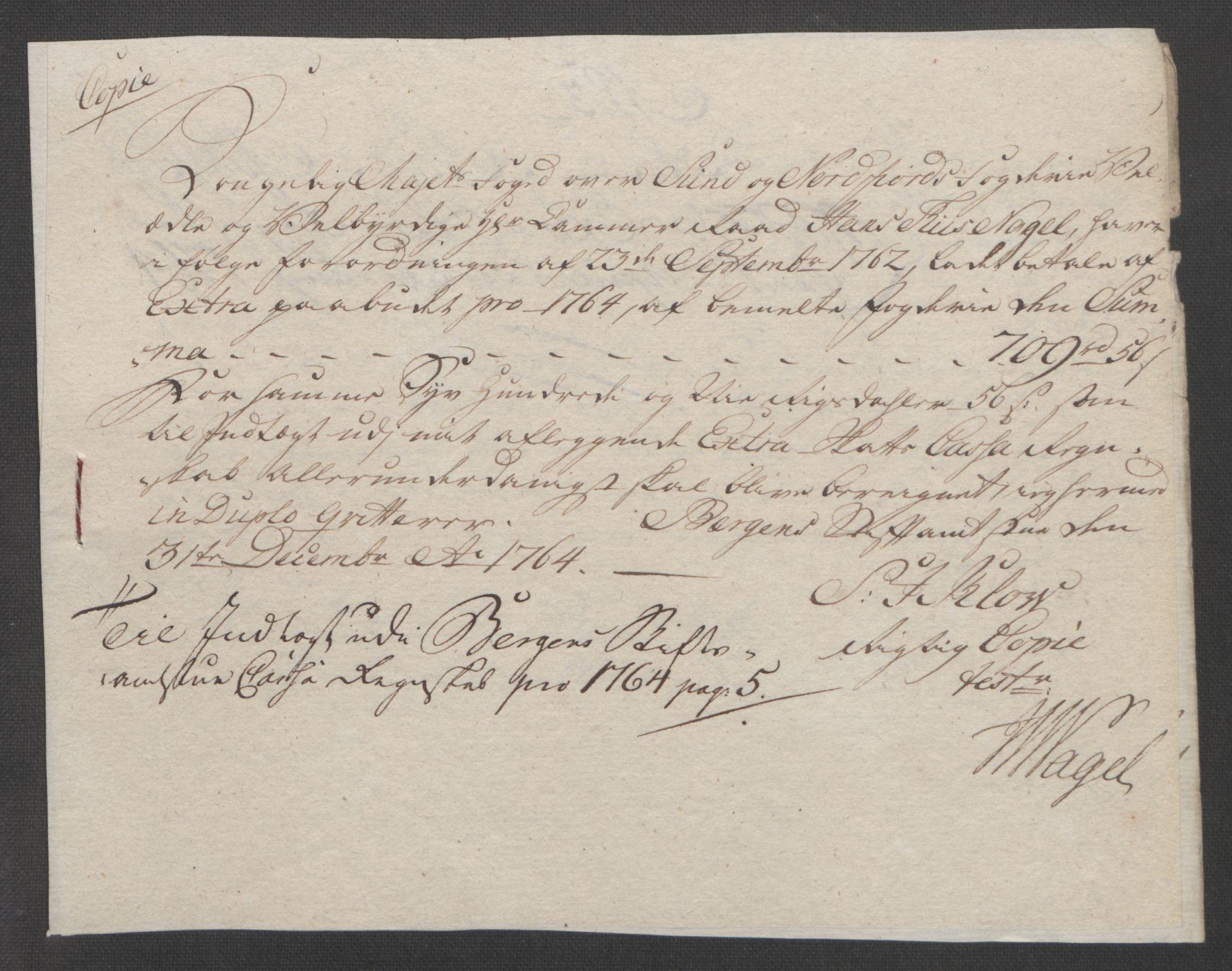 RA, Rentekammeret inntil 1814, Reviderte regnskaper, Fogderegnskap, R53/L3550: Ekstraskatten Sunn- og Nordfjord, 1762-1771, s. 108