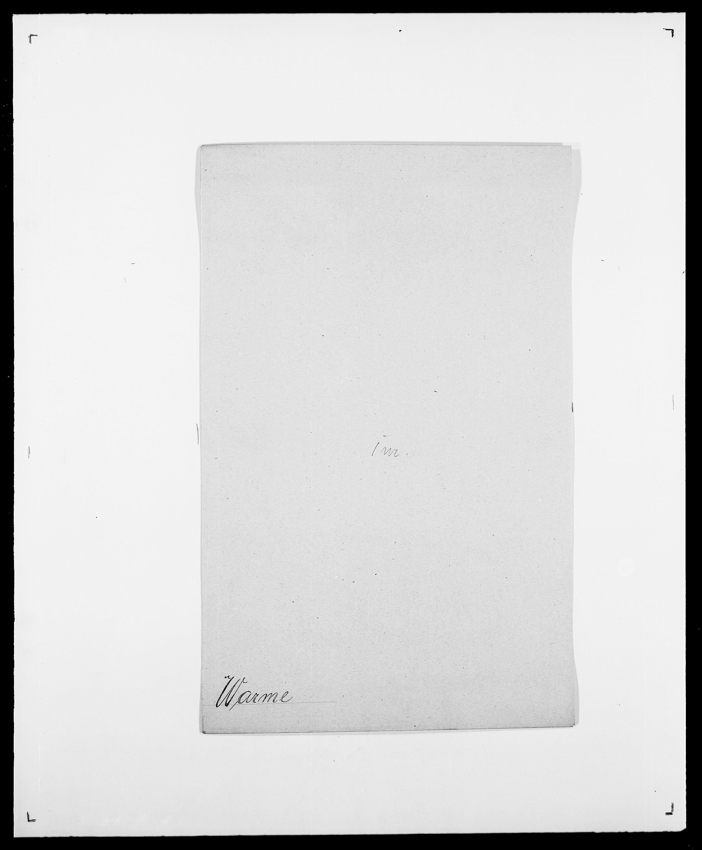 SAO, Delgobe, Charles Antoine - samling, D/Da/L0040: Usgaard - Velund, s. 324
