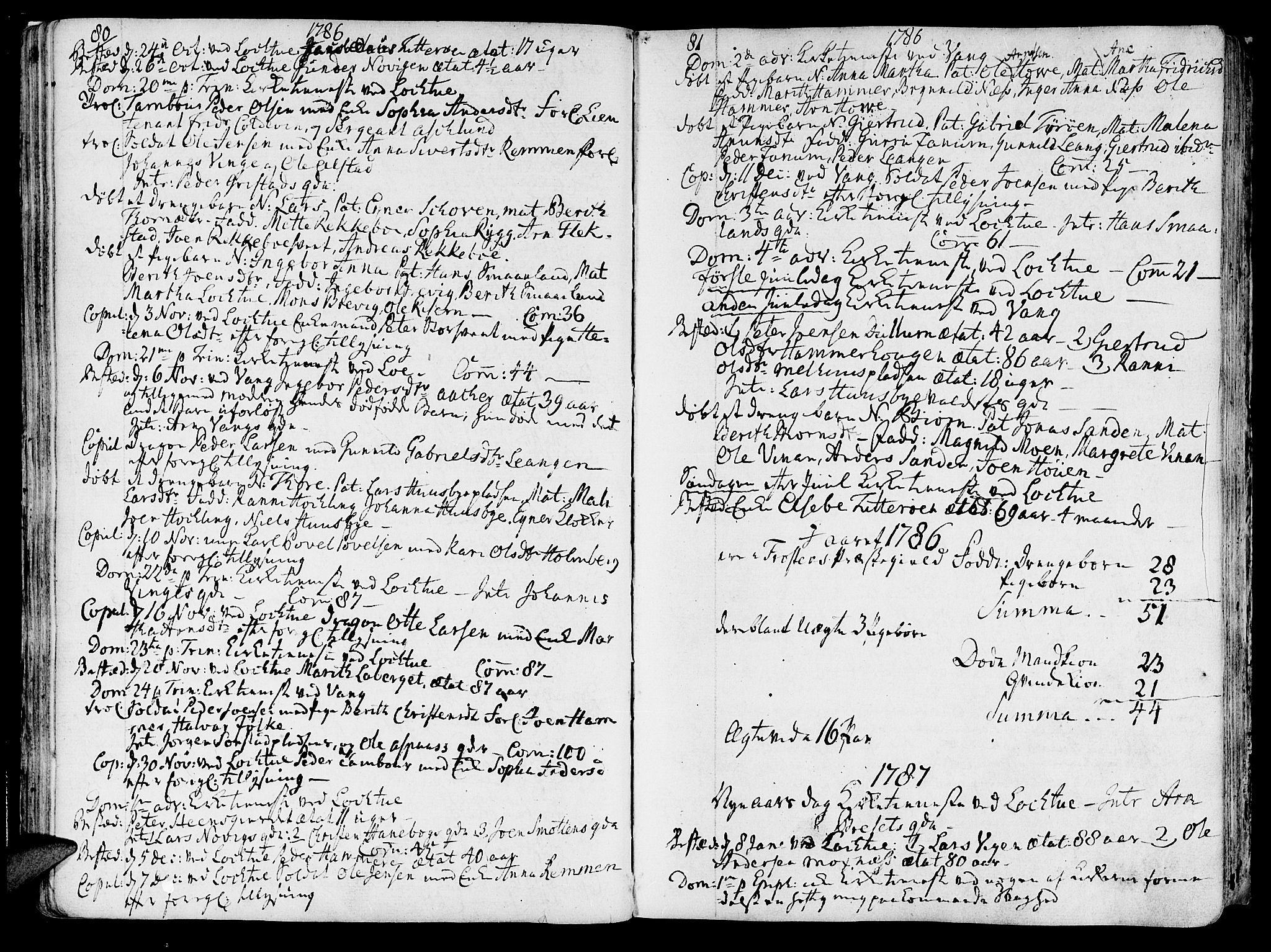 SAT, Ministerialprotokoller, klokkerbøker og fødselsregistre - Nord-Trøndelag, 713/L0110: Ministerialbok nr. 713A02, 1778-1811, s. 80-81