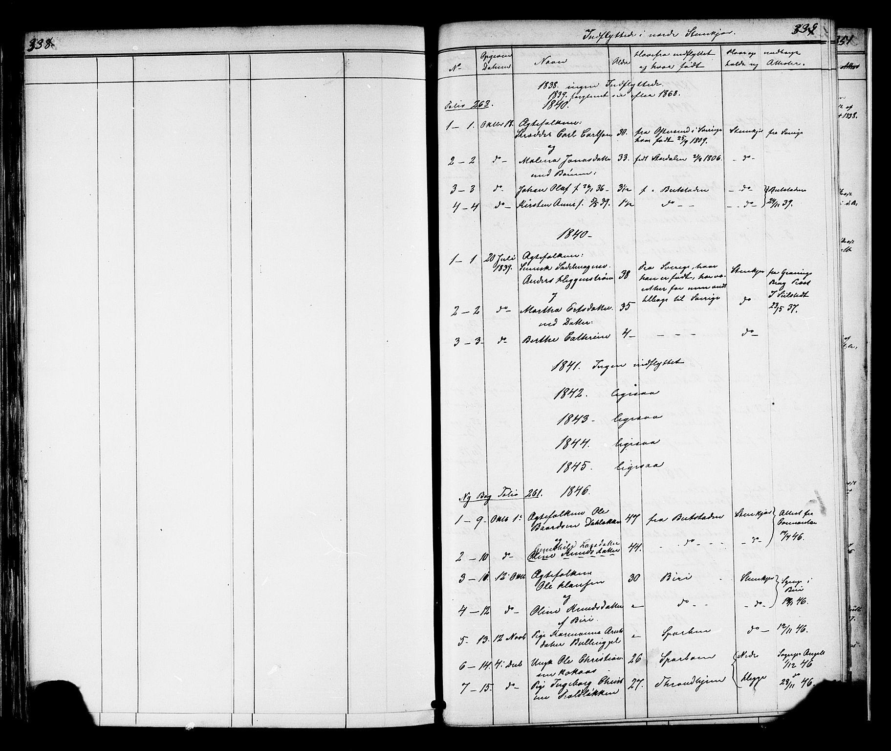 SAT, Ministerialprotokoller, klokkerbøker og fødselsregistre - Nord-Trøndelag, 739/L0367: Ministerialbok nr. 739A01 /2, 1838-1868, s. 338-339