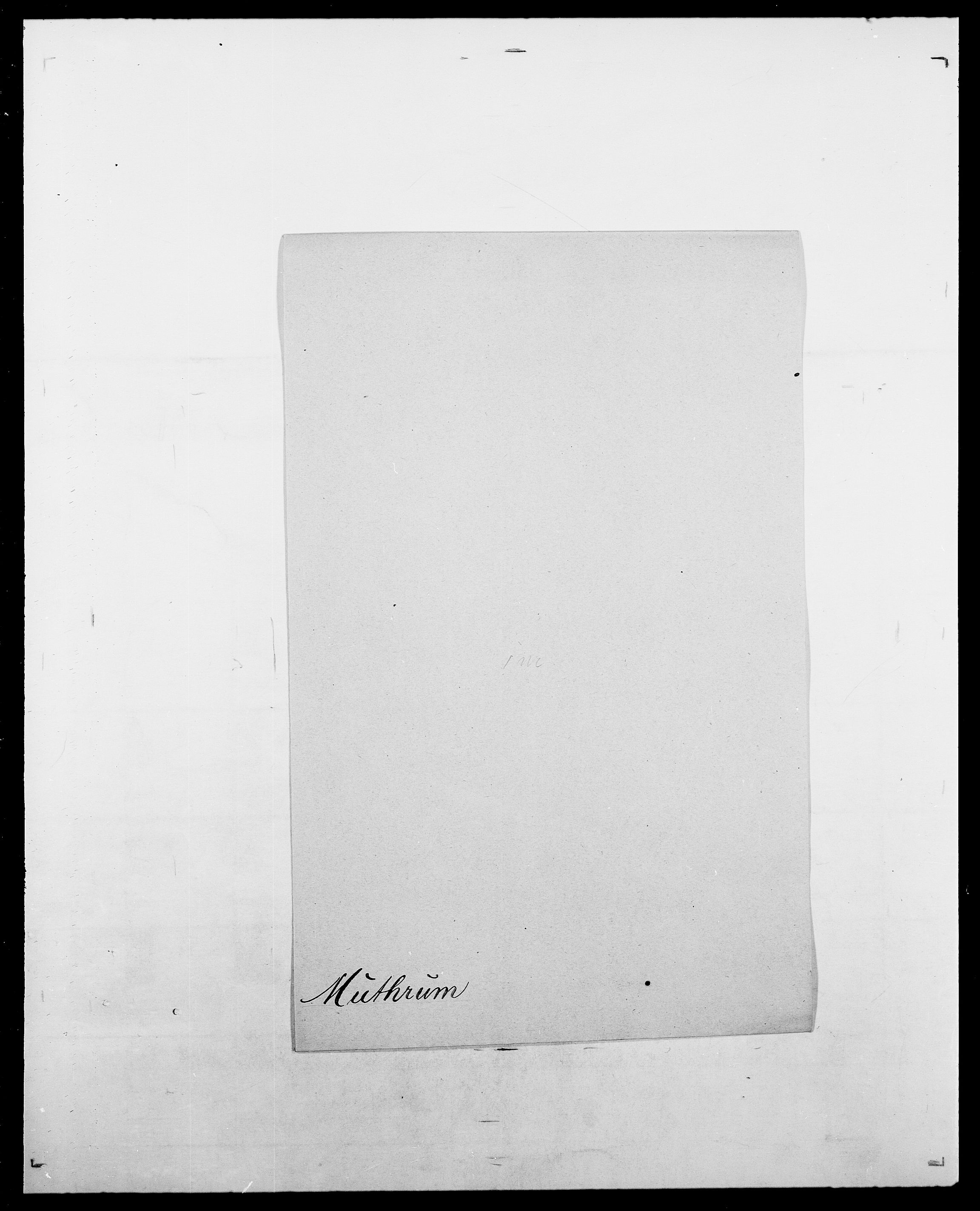 SAO, Delgobe, Charles Antoine - samling, D/Da/L0027: Morath - v. Møsting, s. 288