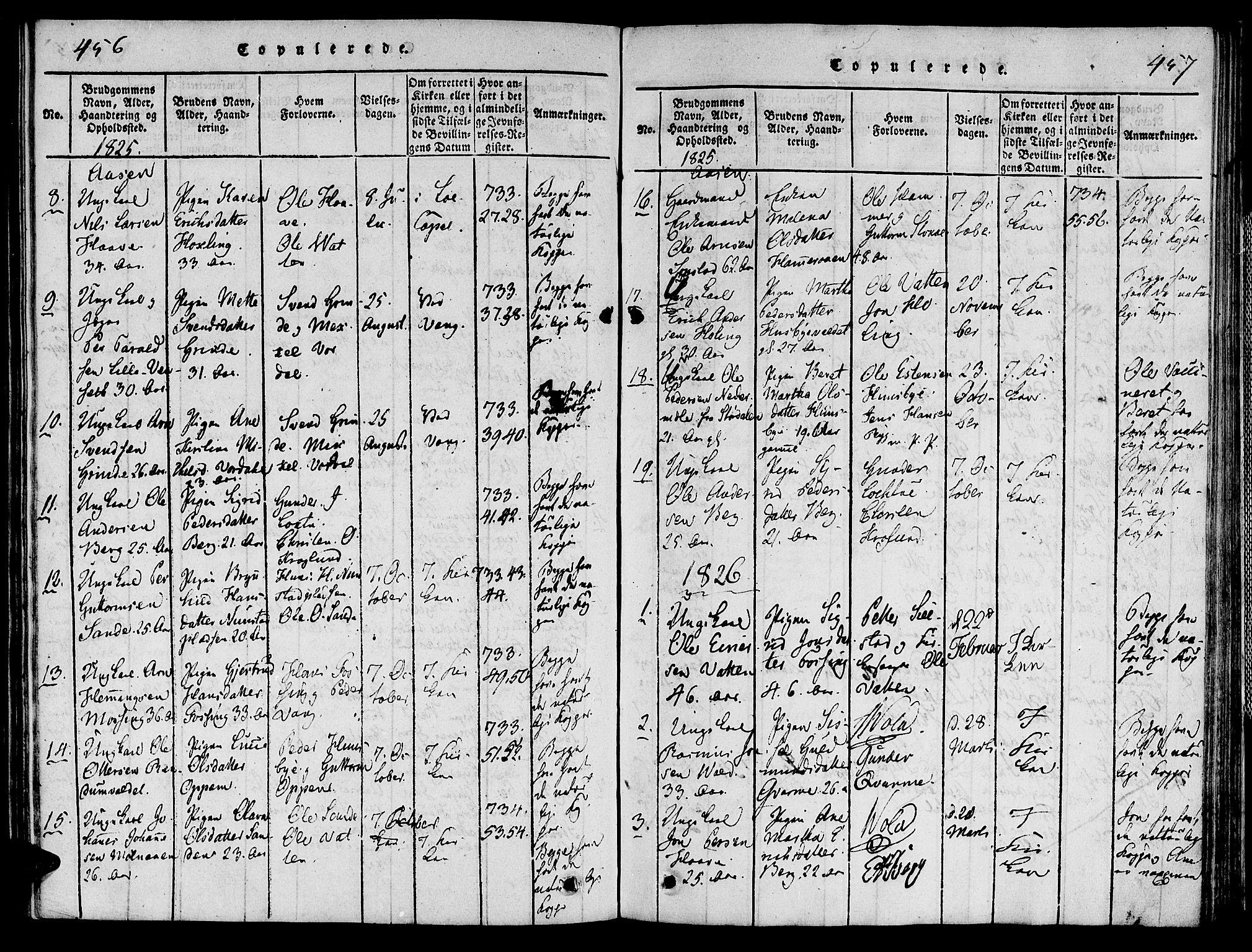 SAT, Ministerialprotokoller, klokkerbøker og fødselsregistre - Nord-Trøndelag, 713/L0112: Ministerialbok nr. 713A04 /2, 1817-1827, s. 456-457