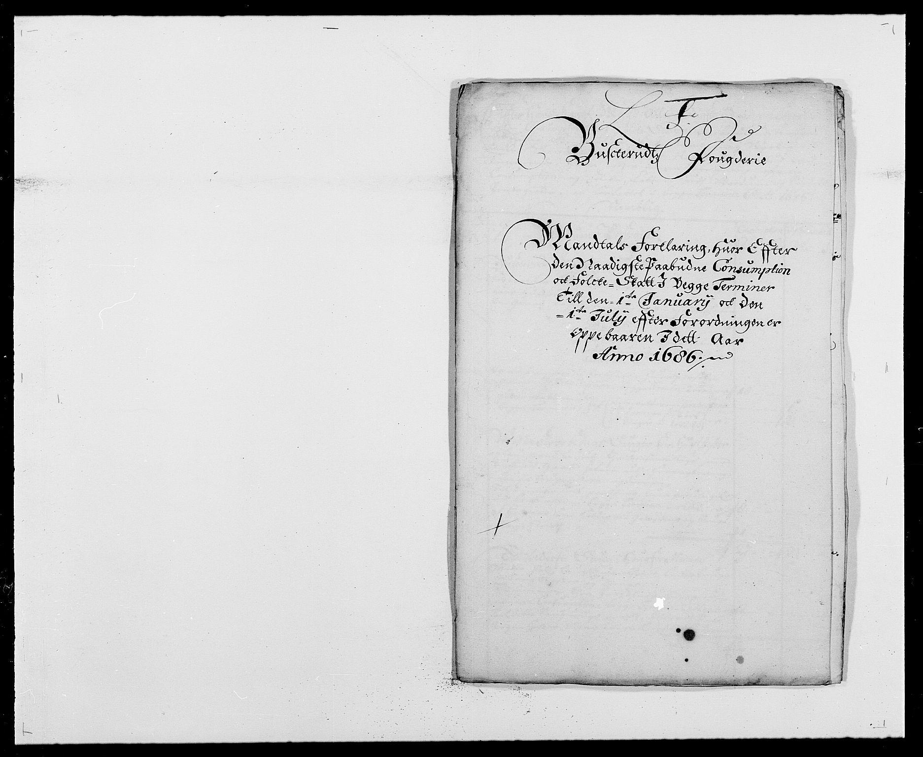 RA, Rentekammeret inntil 1814, Reviderte regnskaper, Fogderegnskap, R25/L1678: Fogderegnskap Buskerud, 1685-1686, s. 342