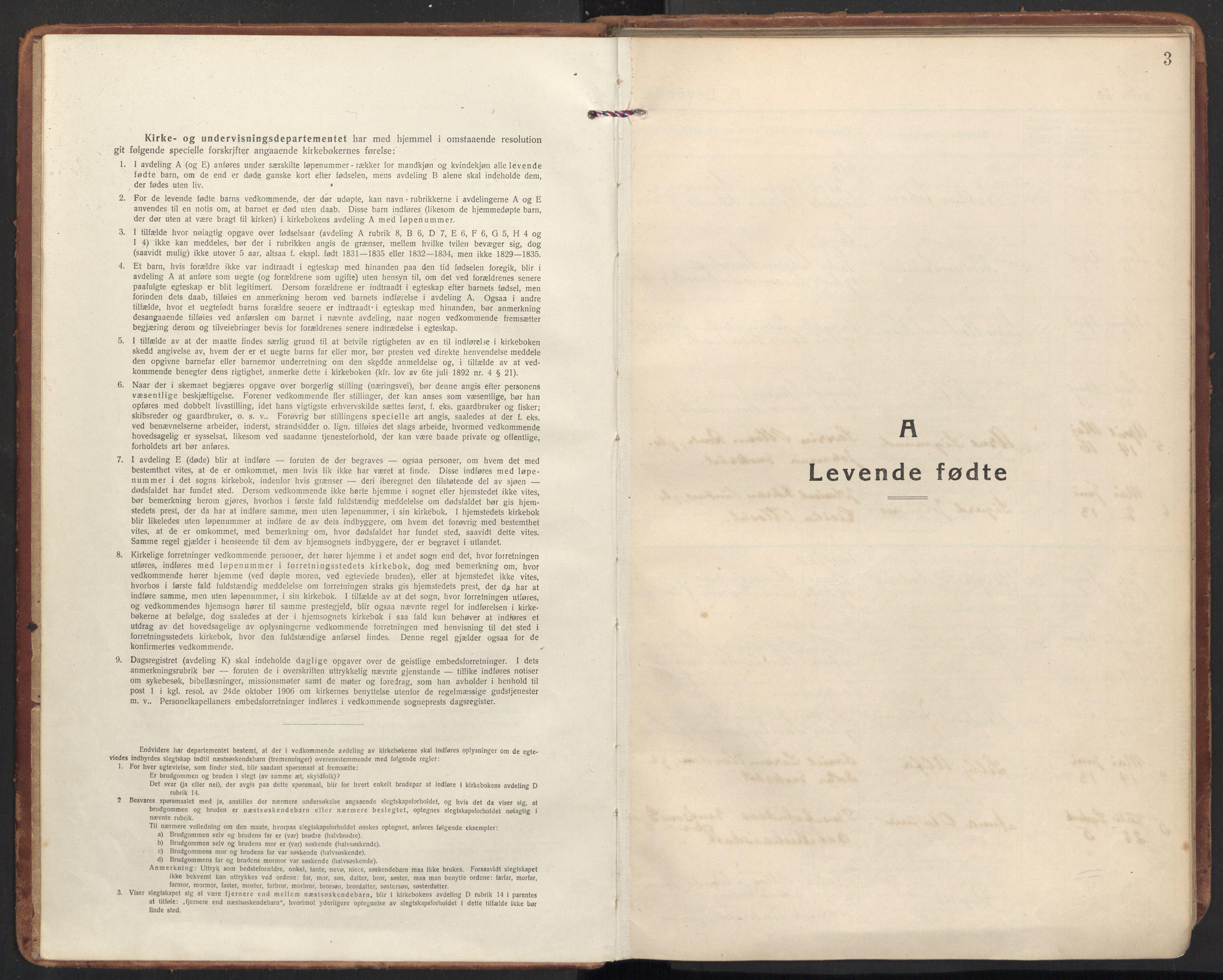 SAT, Ministerialprotokoller, klokkerbøker og fødselsregistre - Møre og Romsdal, 504/L0058: Ministerialbok nr. 504A05, 1920-1940, s. 3