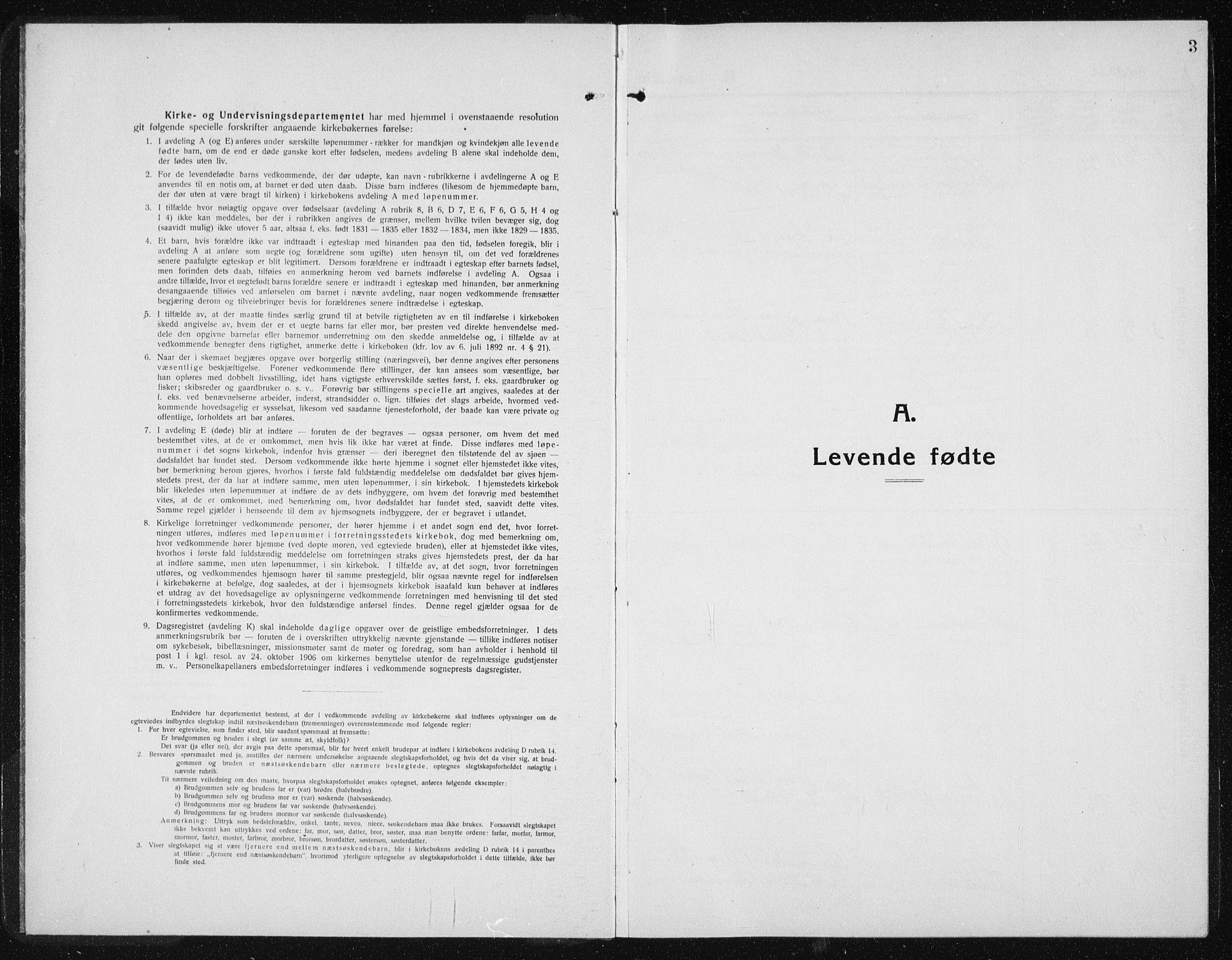 SAT, Ministerialprotokoller, klokkerbøker og fødselsregistre - Sør-Trøndelag, 631/L0515: Klokkerbok nr. 631C03, 1913-1939, s. 3