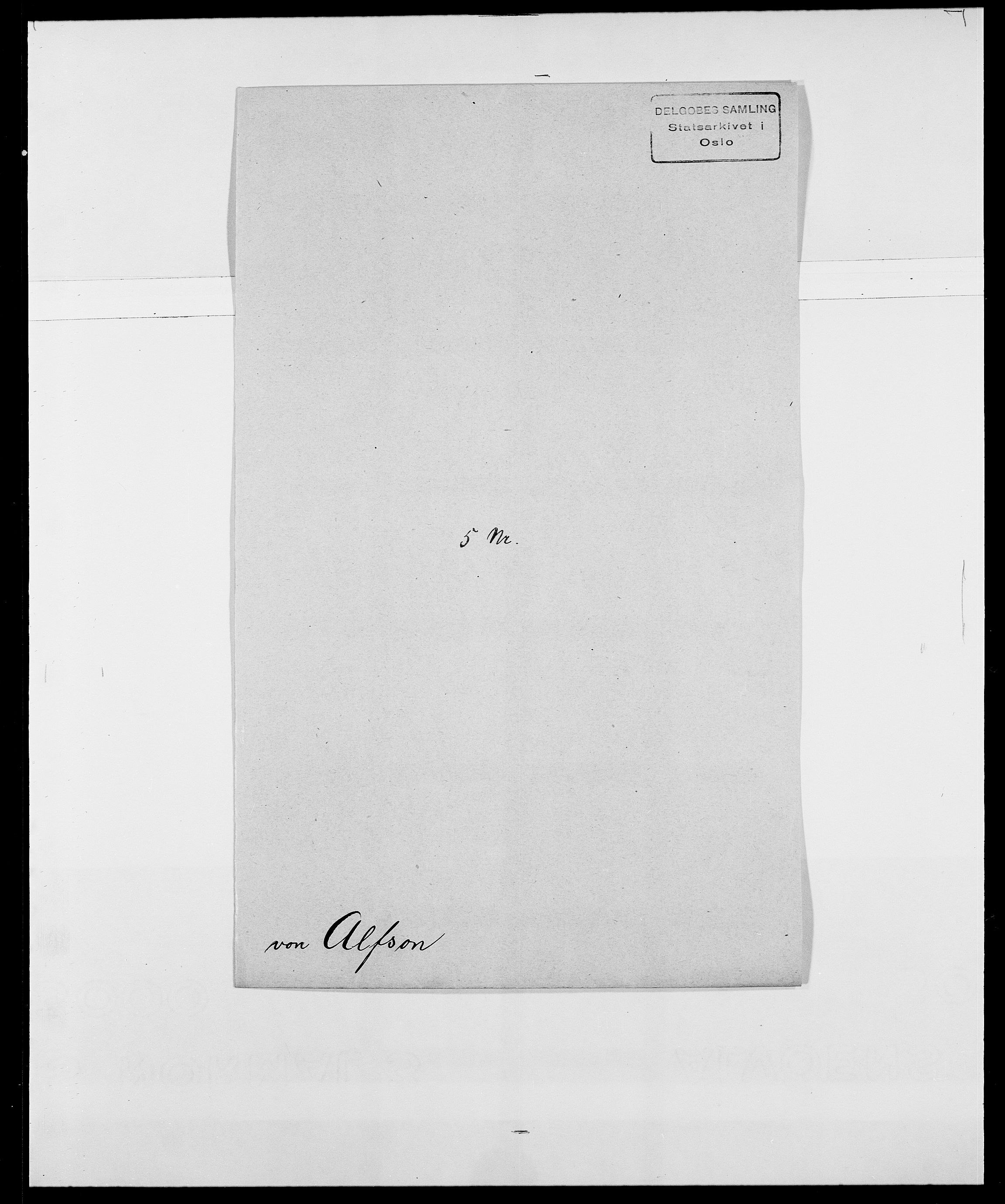 SAO, Delgobe, Charles Antoine - samling, D/Da/L0001: Aabye - Angerman, s. 390