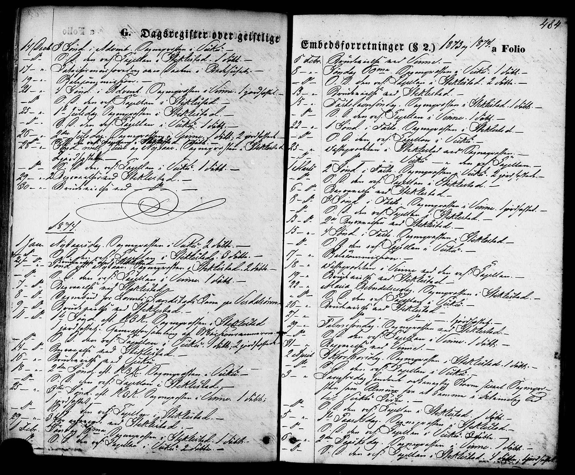 SAT, Ministerialprotokoller, klokkerbøker og fødselsregistre - Nord-Trøndelag, 723/L0242: Ministerialbok nr. 723A11, 1870-1880, s. 484