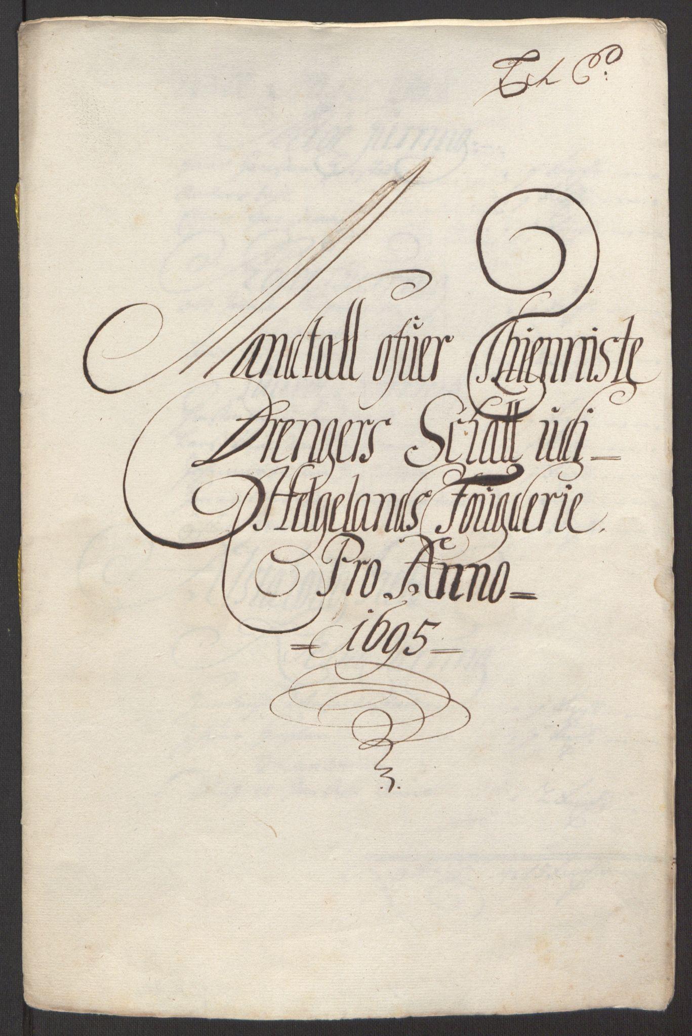 RA, Rentekammeret inntil 1814, Reviderte regnskaper, Fogderegnskap, R65/L4505: Fogderegnskap Helgeland, 1693-1696, s. 376