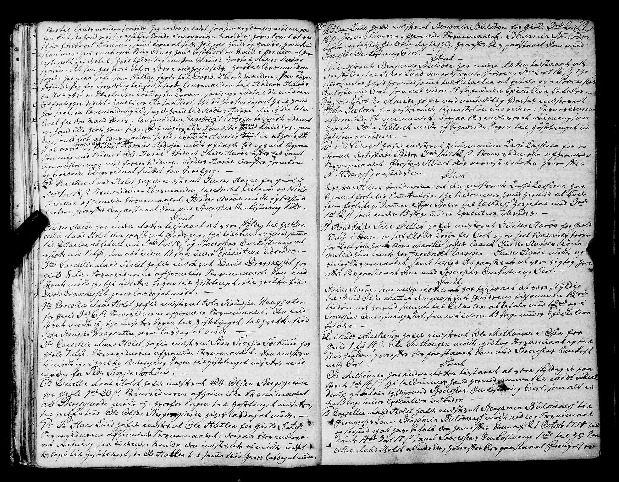 SAT, Romsdal sorenskriveri, 1/1A/L0014: Tingbok, 1757-1765, s. 24