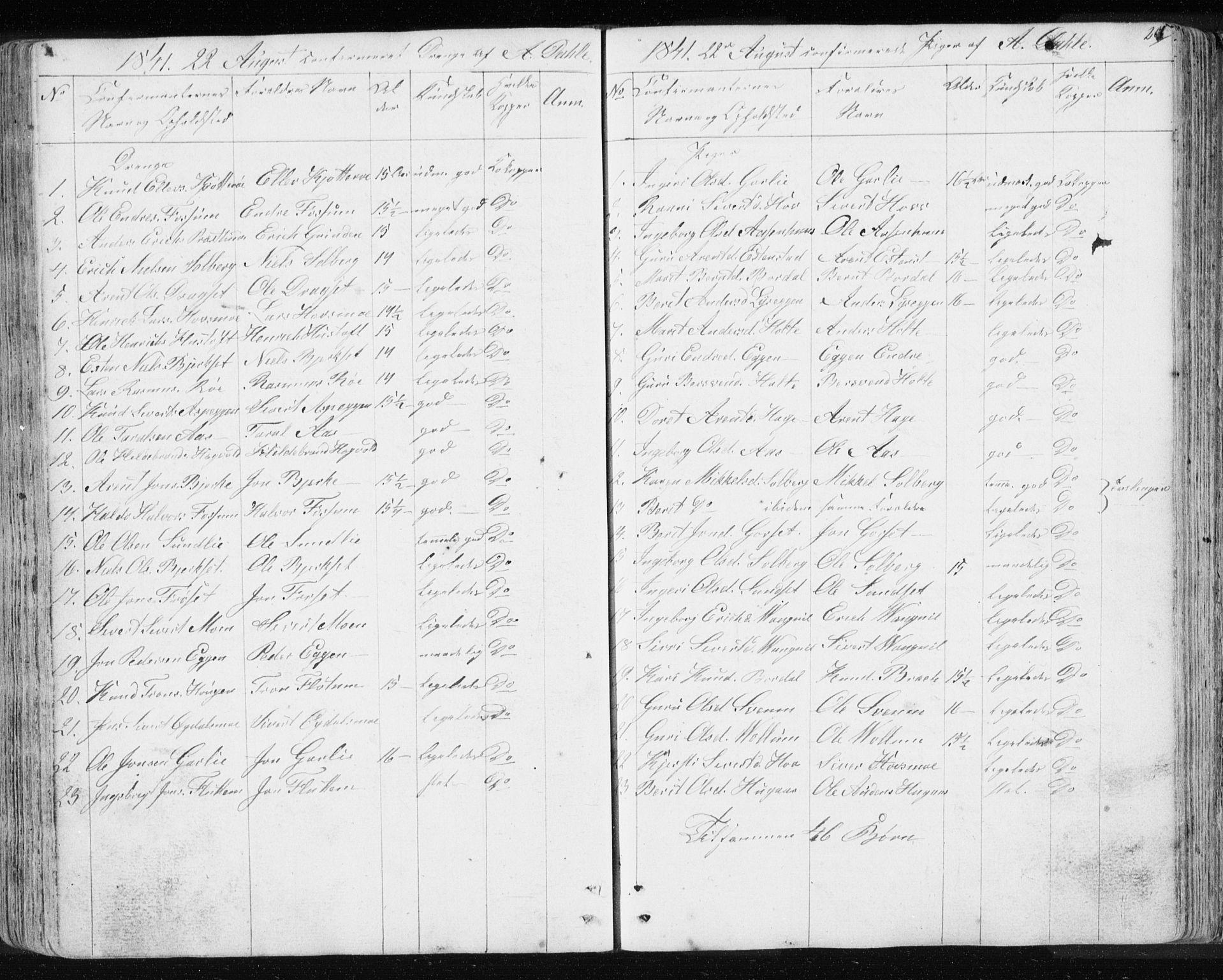 SAT, Ministerialprotokoller, klokkerbøker og fødselsregistre - Sør-Trøndelag, 689/L1043: Klokkerbok nr. 689C02, 1816-1892, s. 264