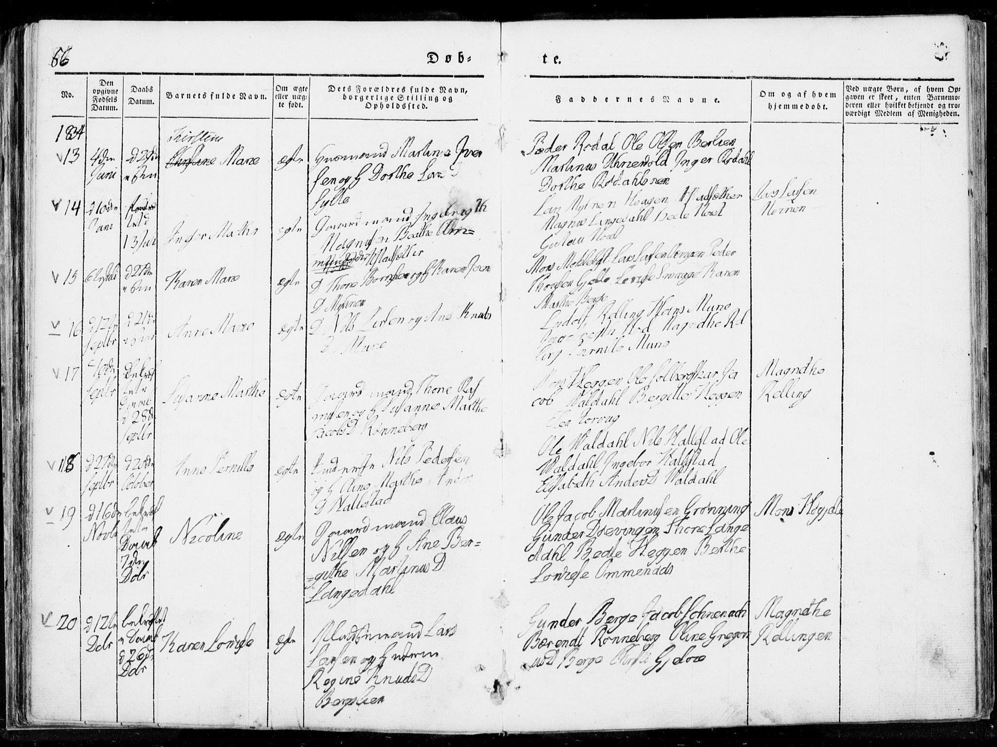SAT, Ministerialprotokoller, klokkerbøker og fødselsregistre - Møre og Romsdal, 519/L0247: Ministerialbok nr. 519A06, 1827-1846, s. 86