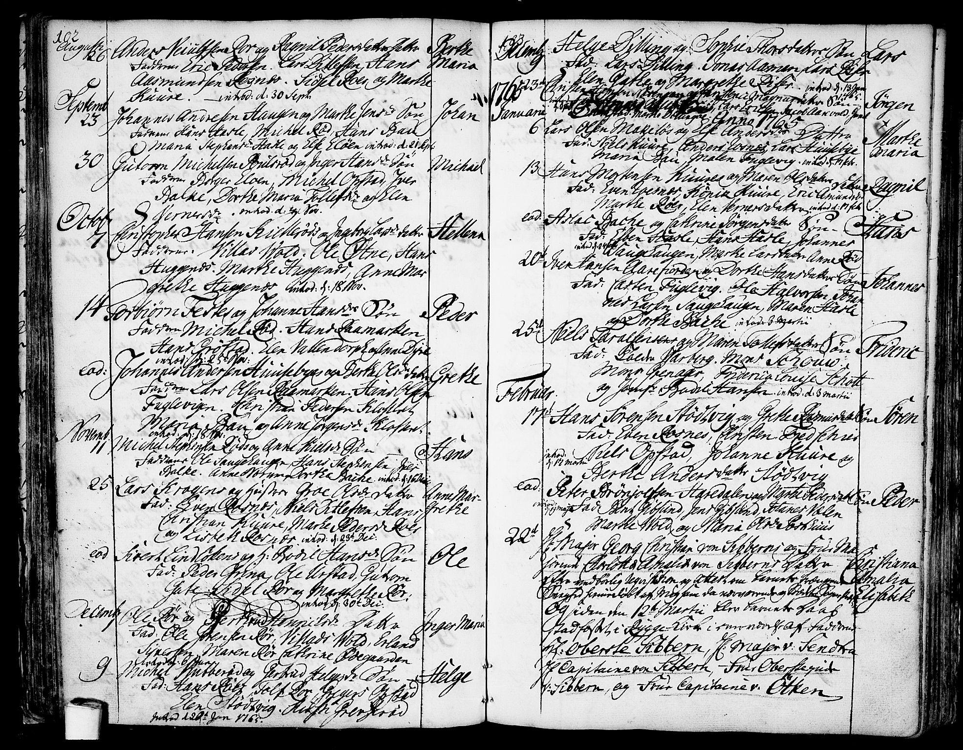 SAO, Rygge prestekontor Kirkebøker, F/Fa/L0001: Ministerialbok nr. 1, 1725-1771, s. 102-103
