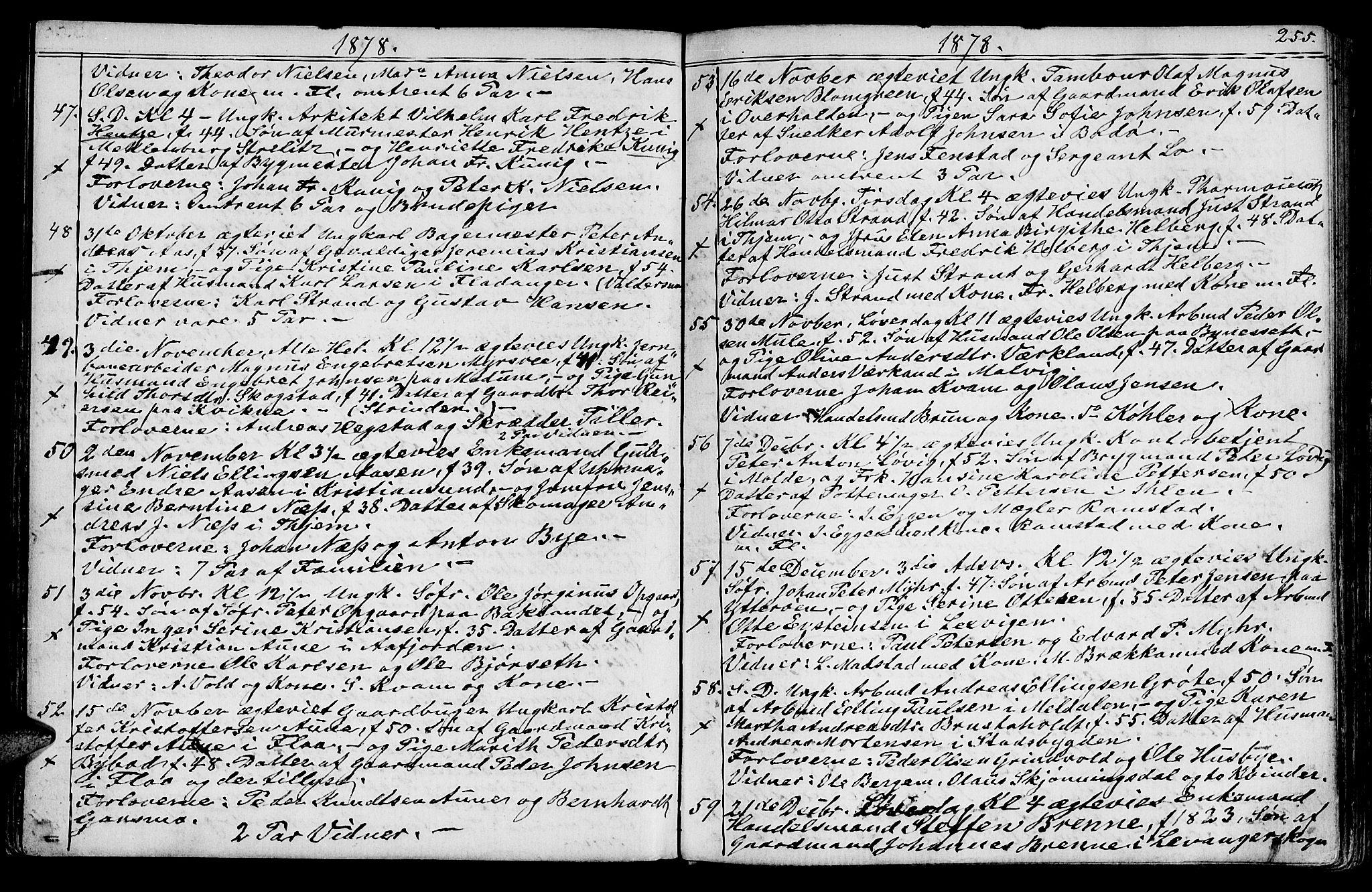 SAT, Ministerialprotokoller, klokkerbøker og fødselsregistre - Sør-Trøndelag, 602/L0142: Klokkerbok nr. 602C10, 1872-1894, s. 255