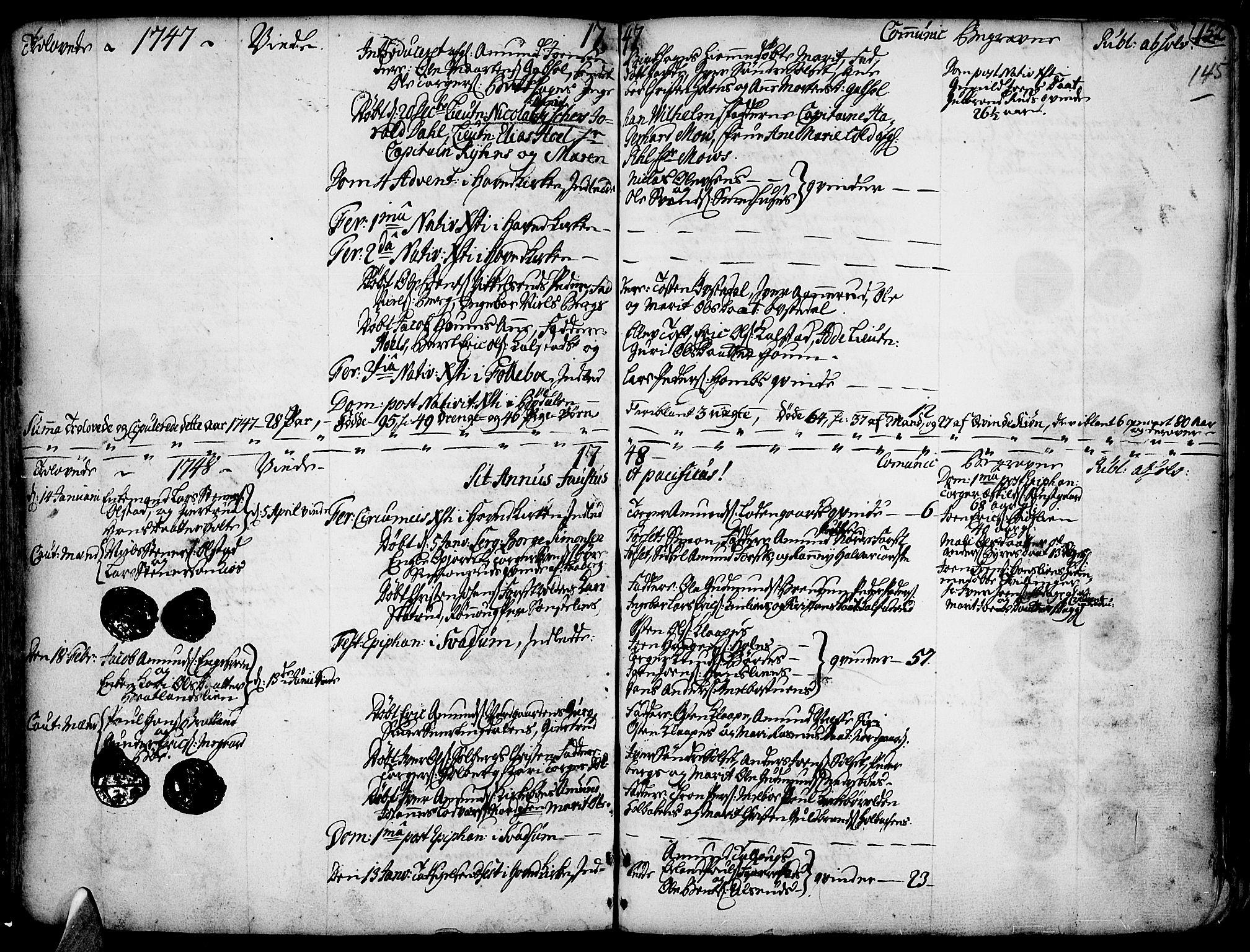 SAH, Gausdal prestekontor, Ministerialbok nr. 2, 1729-1757, s. 145