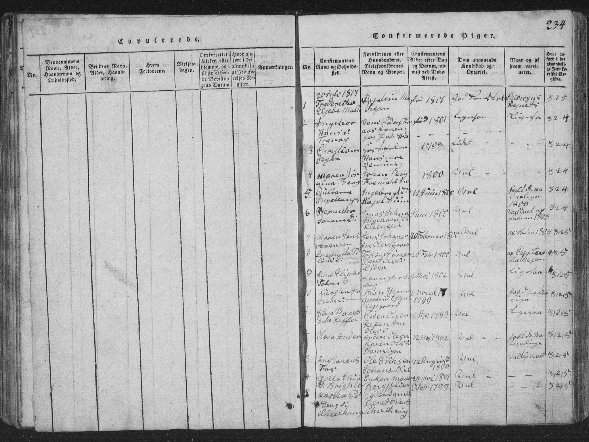 SAT, Ministerialprotokoller, klokkerbøker og fødselsregistre - Nord-Trøndelag, 773/L0613: Ministerialbok nr. 773A04, 1815-1845, s. 234