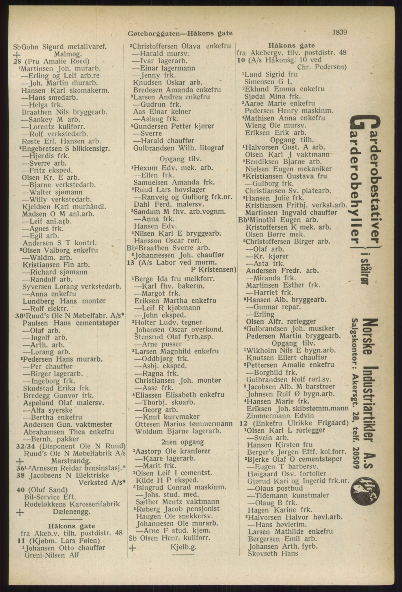 PUBL, Kristiania/Oslo adressebok, 1937, s. 1839