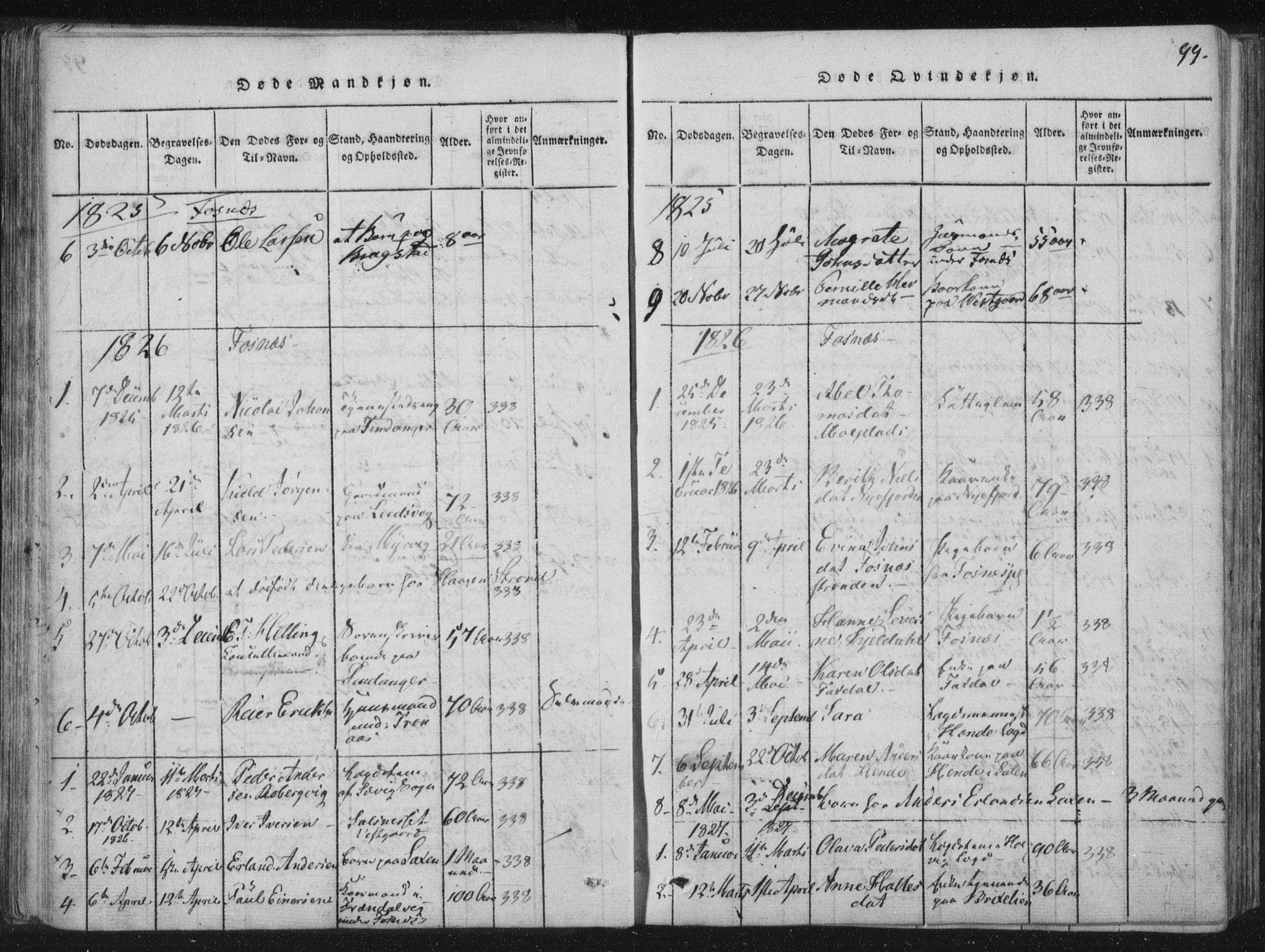 SAT, Ministerialprotokoller, klokkerbøker og fødselsregistre - Nord-Trøndelag, 773/L0609: Ministerialbok nr. 773A03 /1, 1815-1830, s. 99