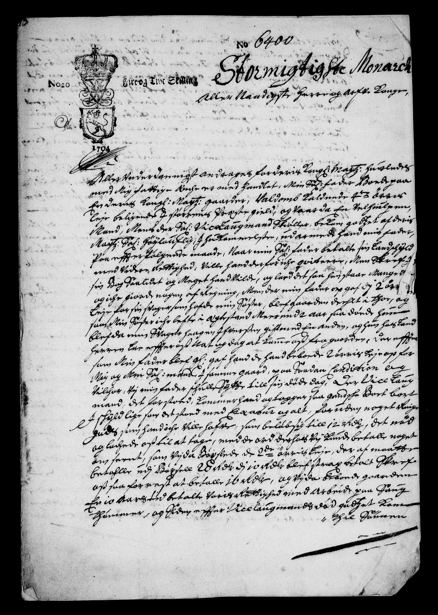RA, Rentekammeret inntil 1814, Realistisk ordnet avdeling, On/L0013: [Jj 14]: Forskjellige dokumenter om krongodset i Norge, 1672-1722, s. 154
