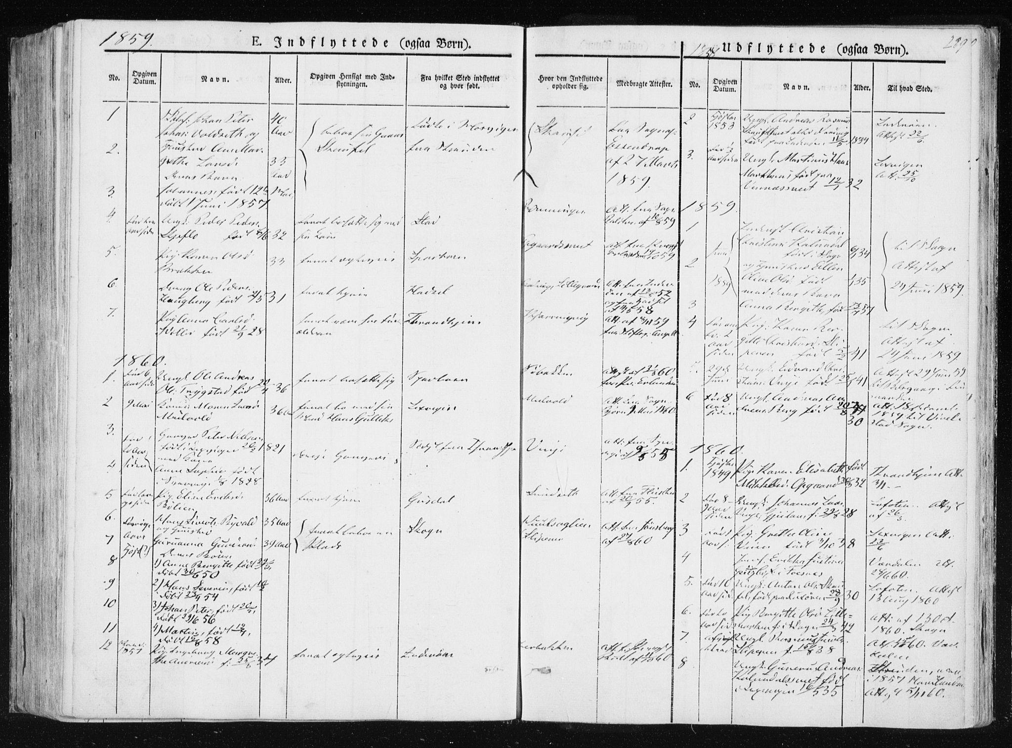 SAT, Ministerialprotokoller, klokkerbøker og fødselsregistre - Nord-Trøndelag, 733/L0323: Ministerialbok nr. 733A02, 1843-1870, s. 289
