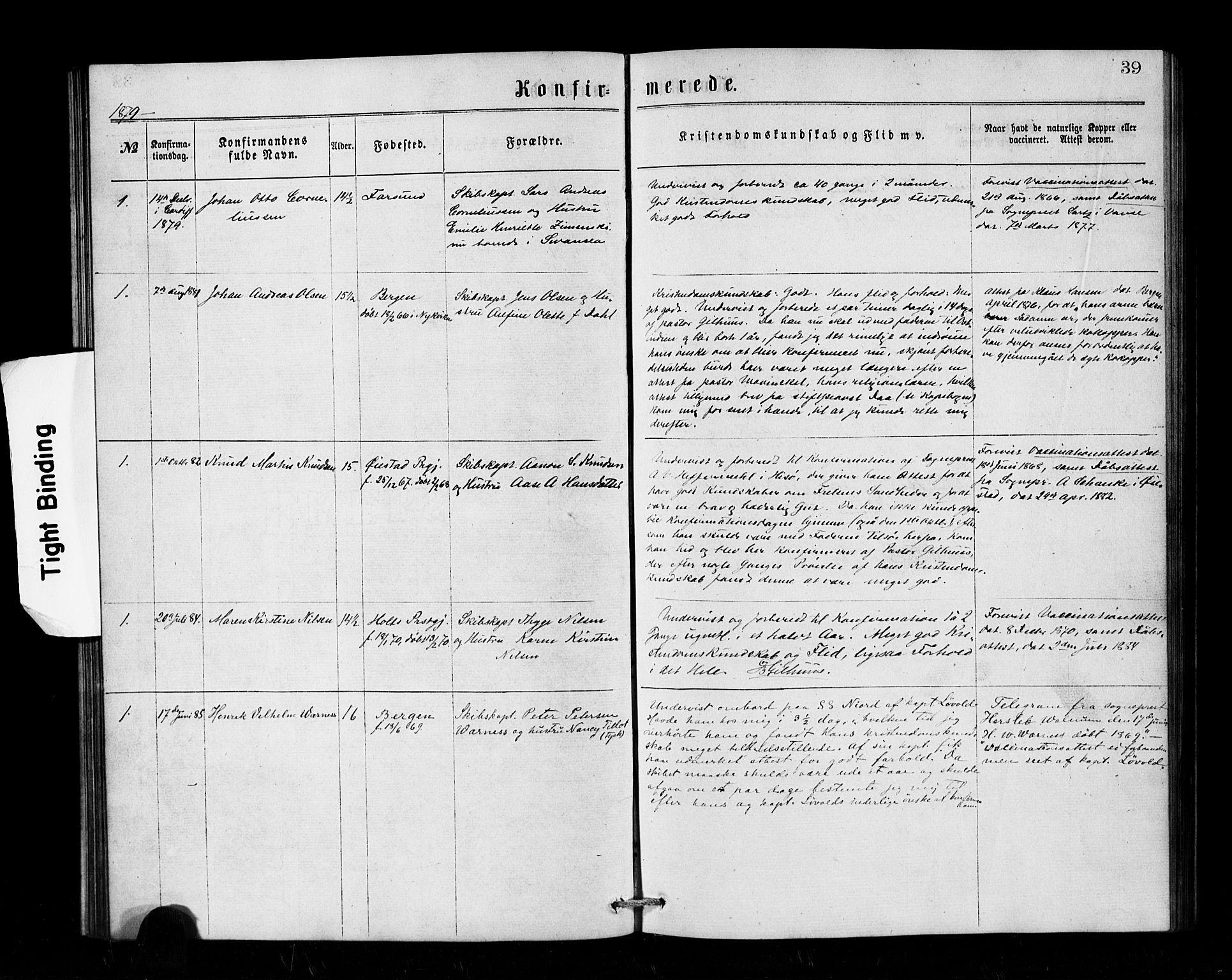 SAB, Den Norske Sjømannsmisjon i utlandet*, Ministerialbok nr. A 1, 1866-1887, s. 39