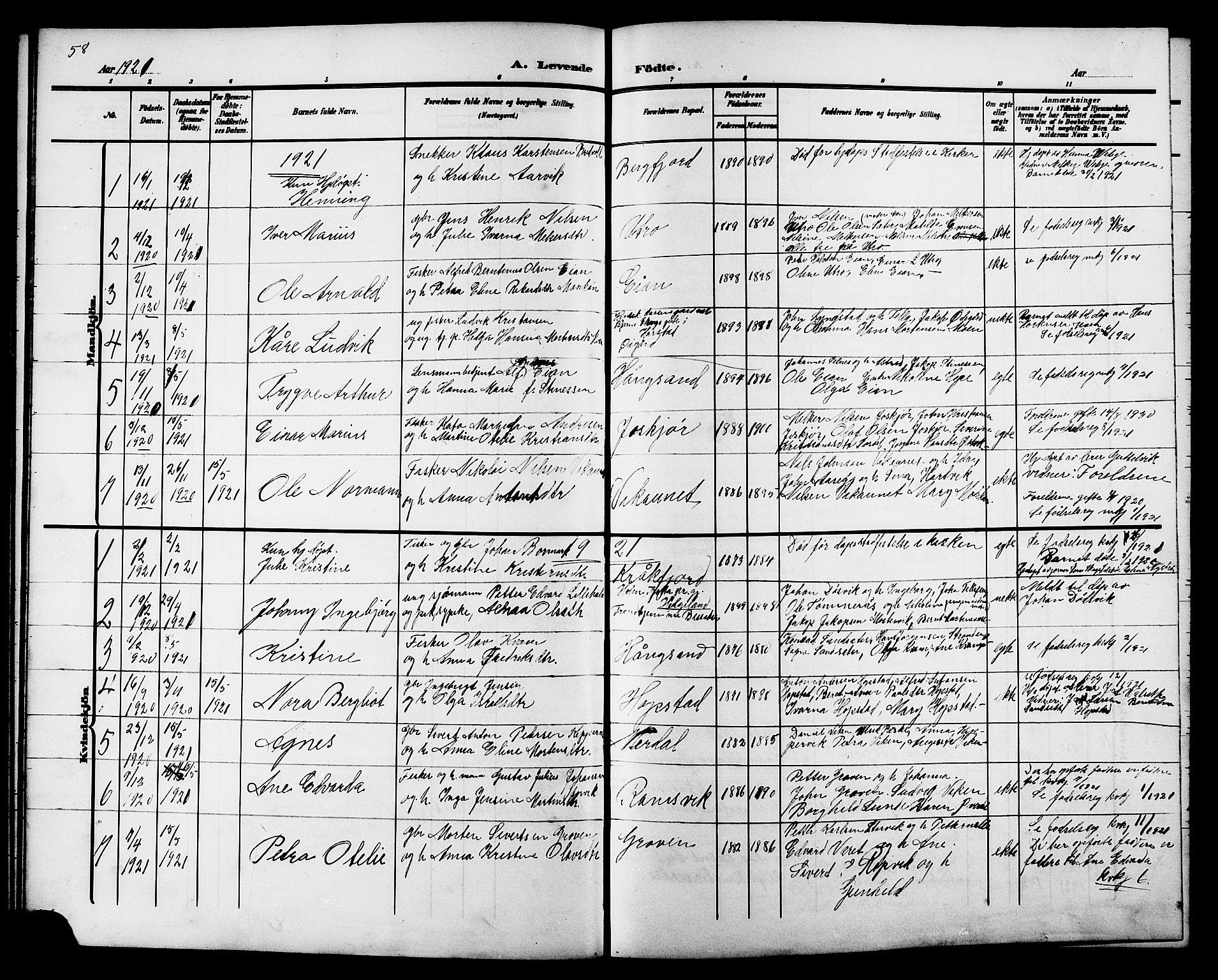SAT, Ministerialprotokoller, klokkerbøker og fødselsregistre - Sør-Trøndelag, 657/L0717: Klokkerbok nr. 657C04, 1904-1923, s. 58