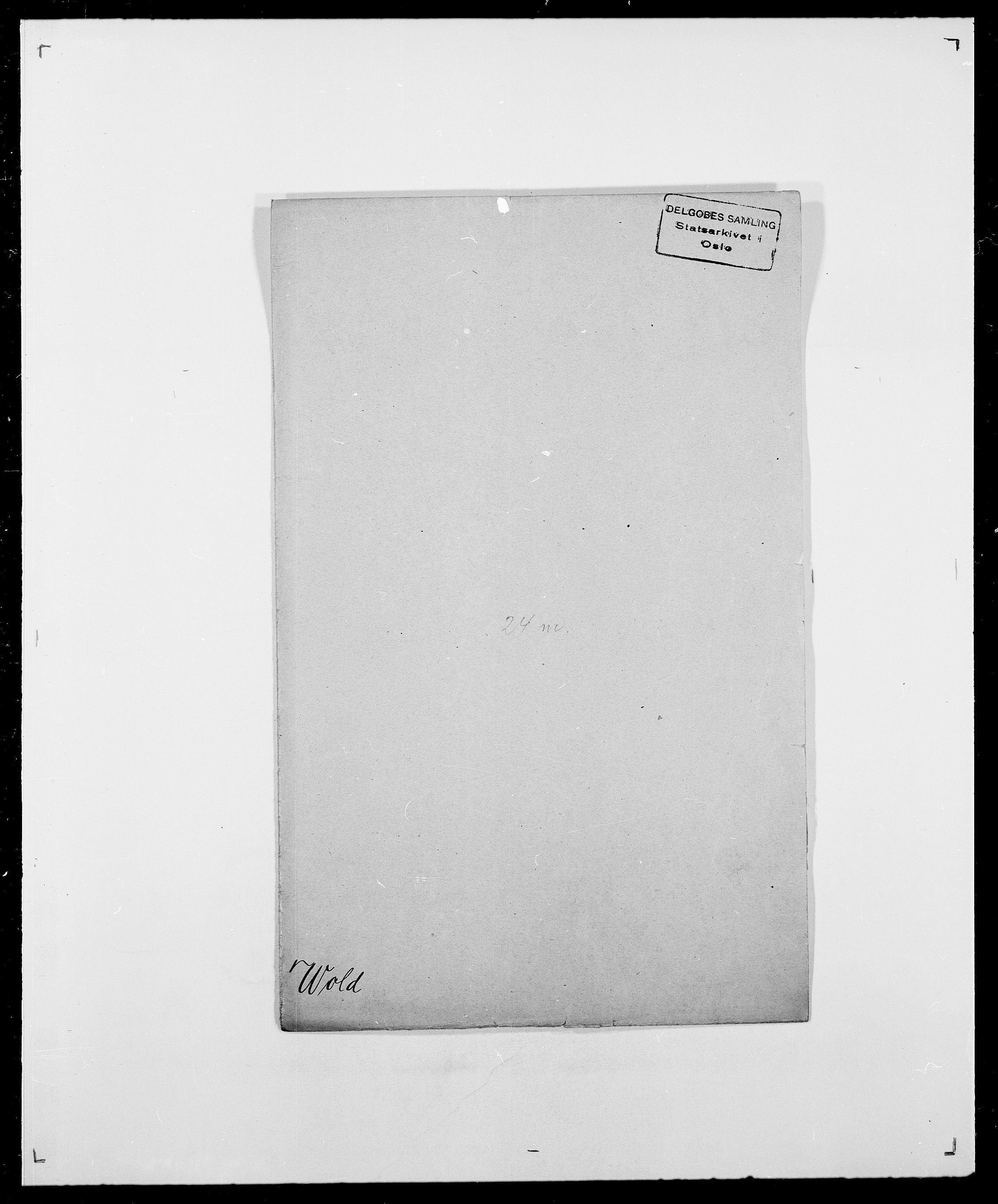SAO, Delgobe, Charles Antoine - samling, D/Da/L0042: Vilain - Wulf, Wulff, se også Wolf, s. 597