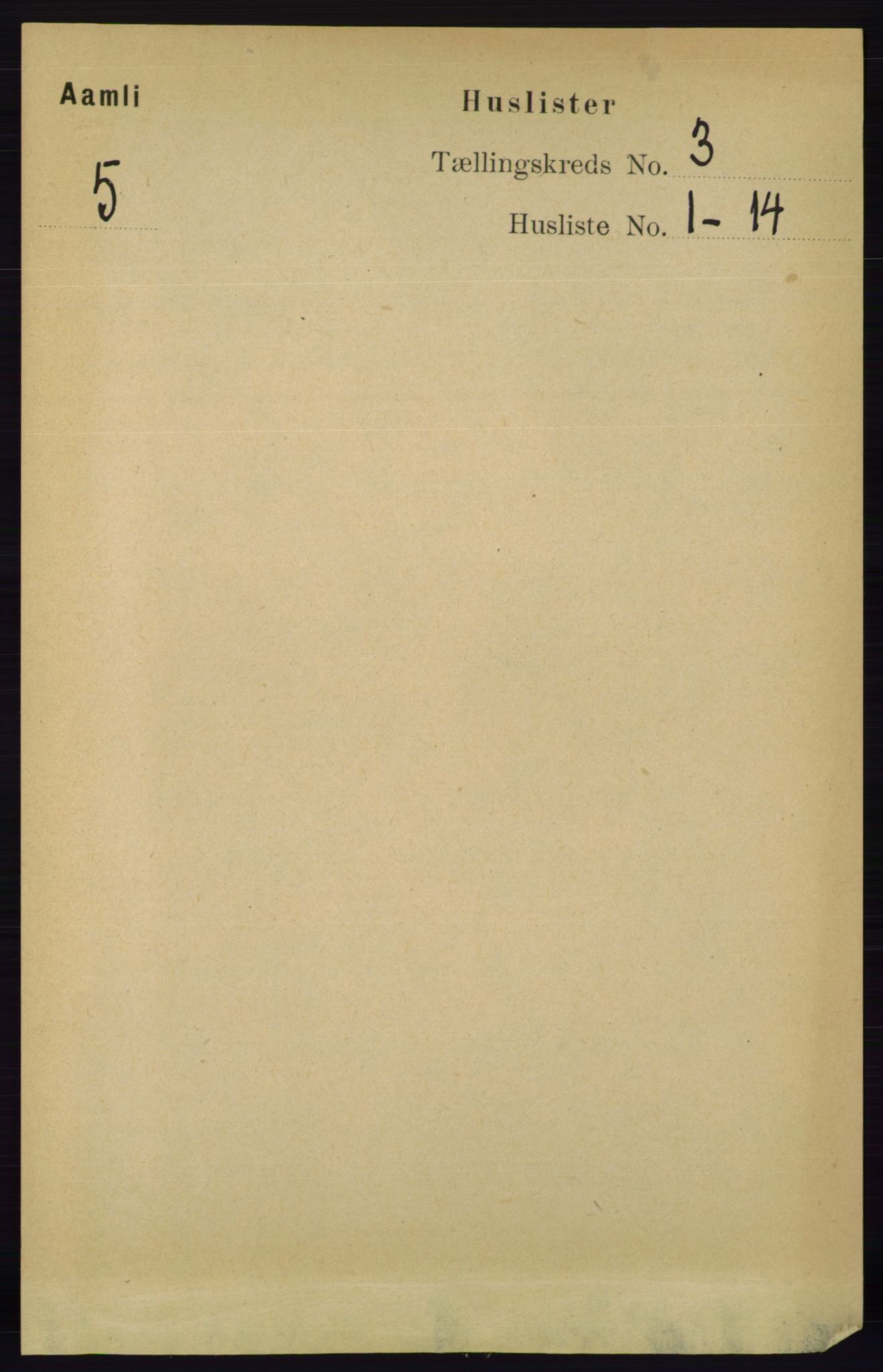 RA, Folketelling 1891 for 0929 Åmli herred, 1891, s. 299