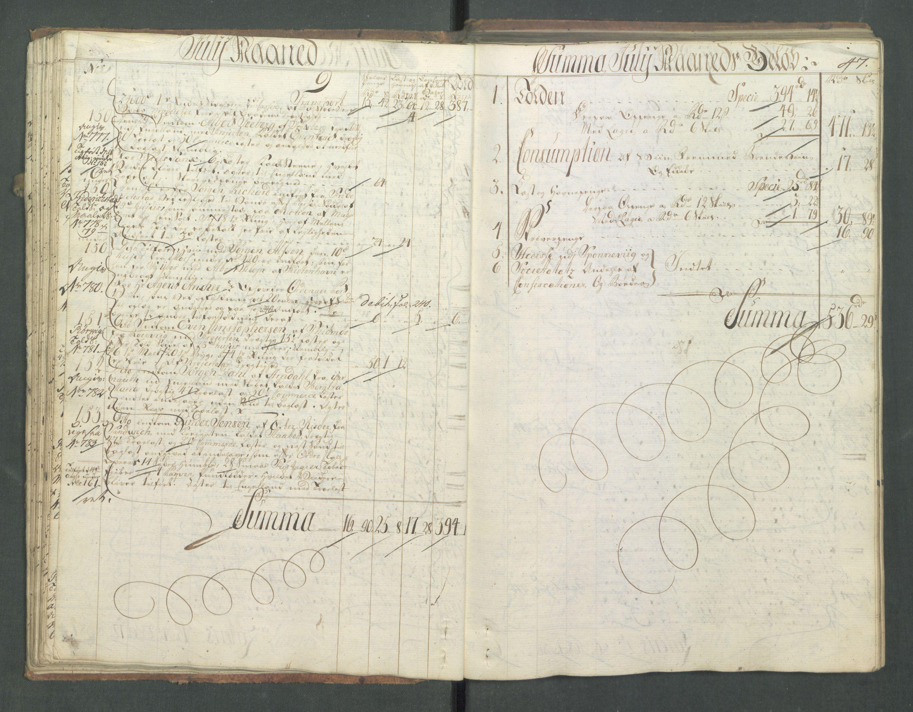 RA, Generaltollkammeret, tollregnskaper, R01/L0028: Tollregnskaper Fredrikshald, 1756, s. 47