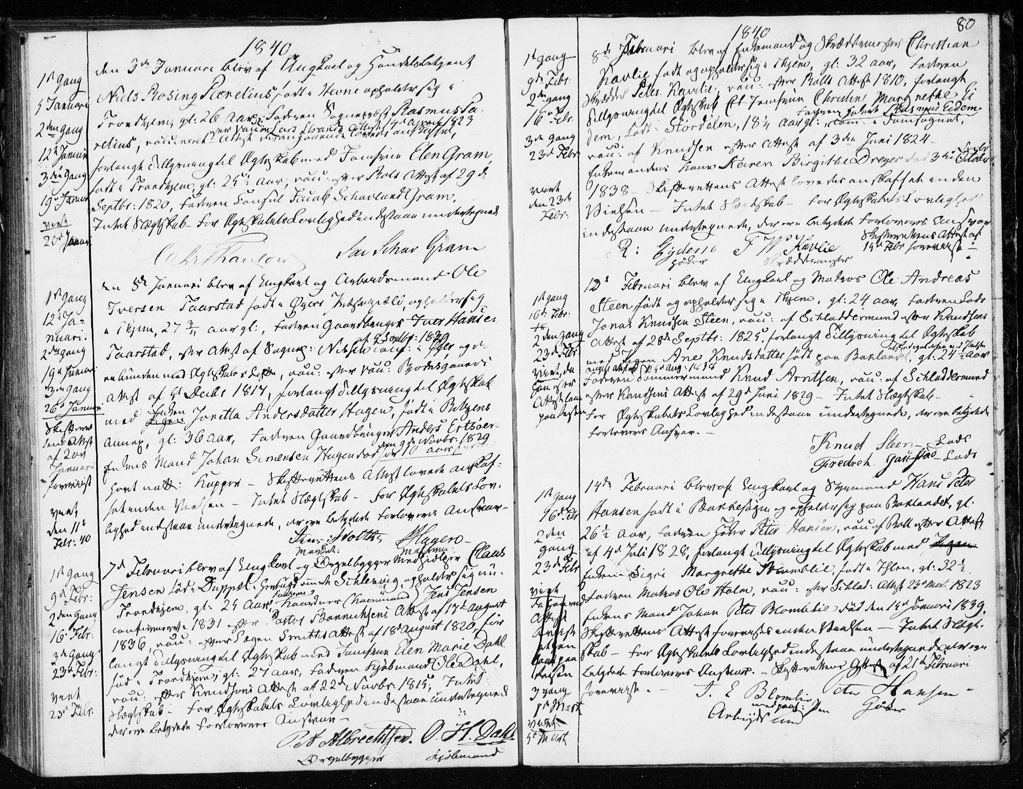 SAT, Ministerialprotokoller, klokkerbøker og fødselsregistre - Sør-Trøndelag, 601/L0046: Ministerialbok nr. 601A14, 1830-1841, s. 80