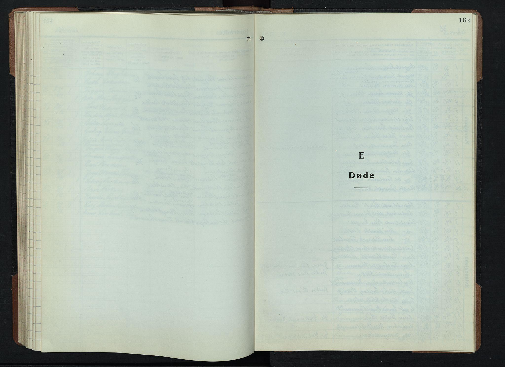 SAH, Gran prestekontor, Klokkerbok nr. 9, 1933-1950, s. 162