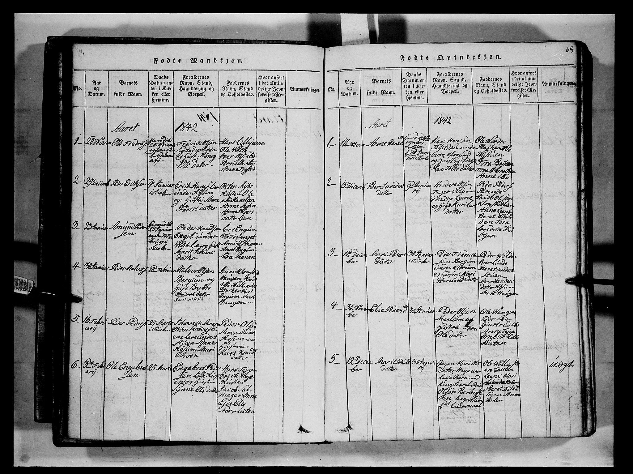 SAH, Fron prestekontor, H/Ha/Hab/L0002: Klokkerbok nr. 2, 1816-1850, s. 68