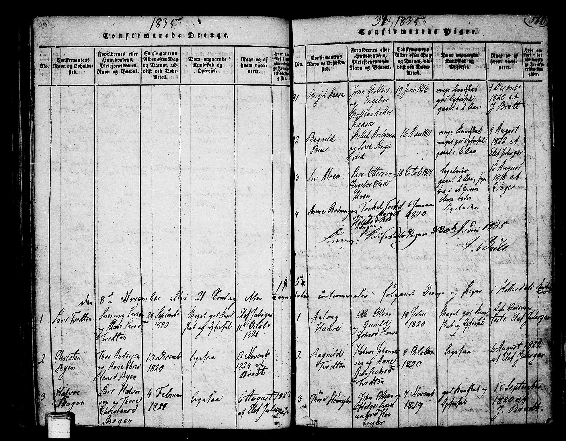 SAKO, Heddal kirkebøker, F/Fa/L0005: Ministerialbok nr. I 5, 1814-1837, s. 561-562