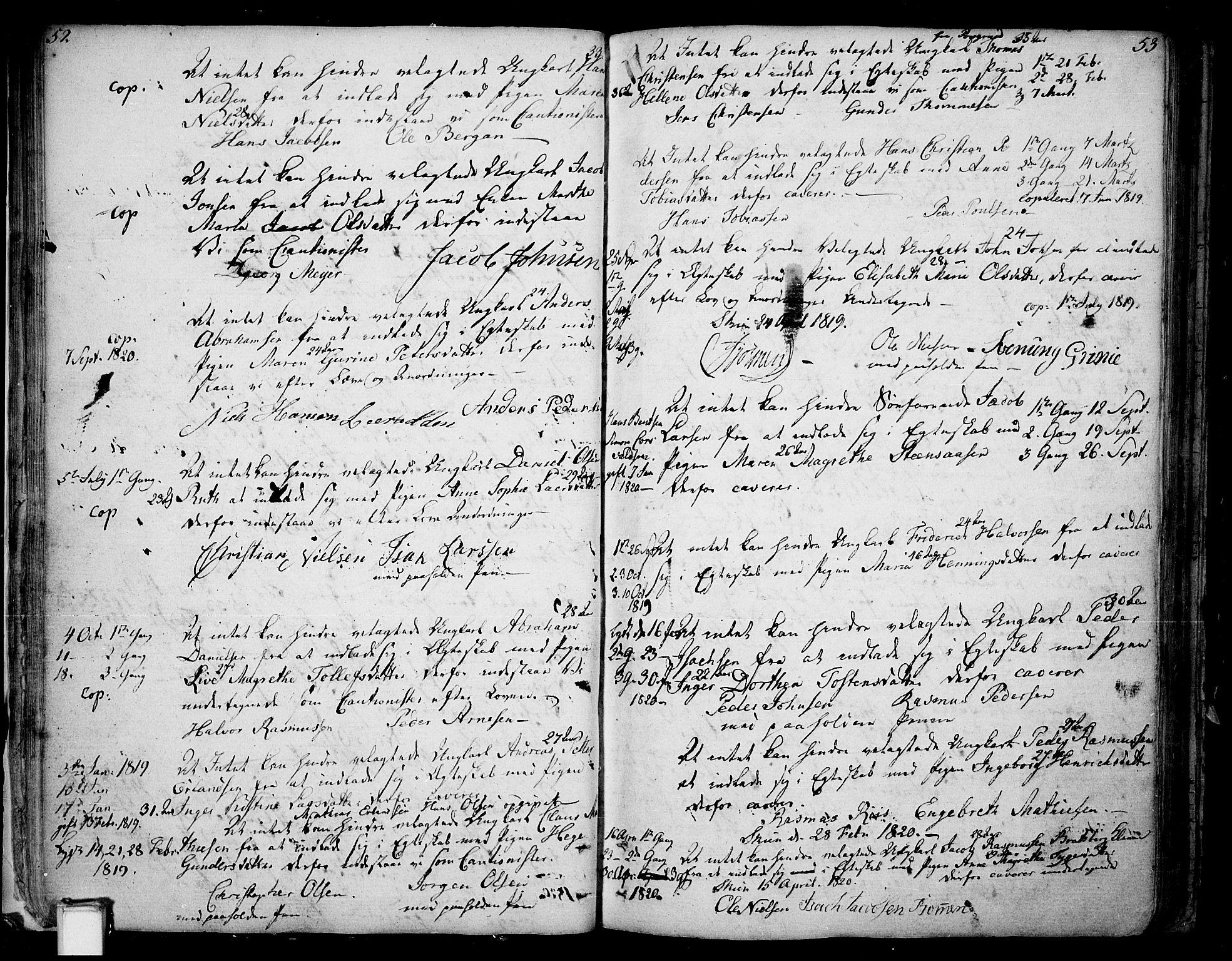 SAKO, Skien kirkebøker, F/Fa/L0004: Ministerialbok nr. 4, 1792-1814, s. 52-53
