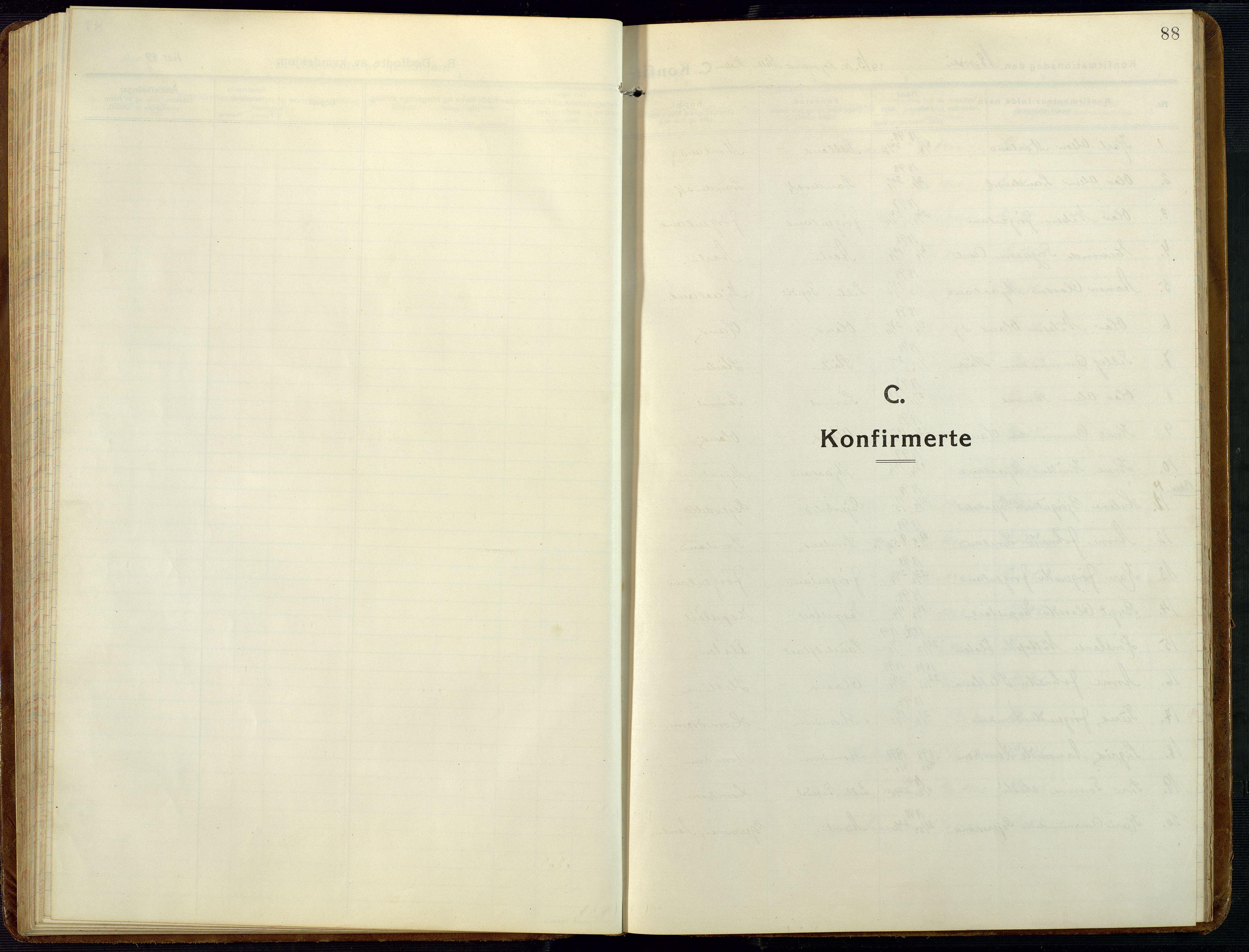 SAK, Åmli sokneprestkontor, F/Fb/Fba/L0003: Klokkerbok nr. B 3, 1912-1974, s. 88