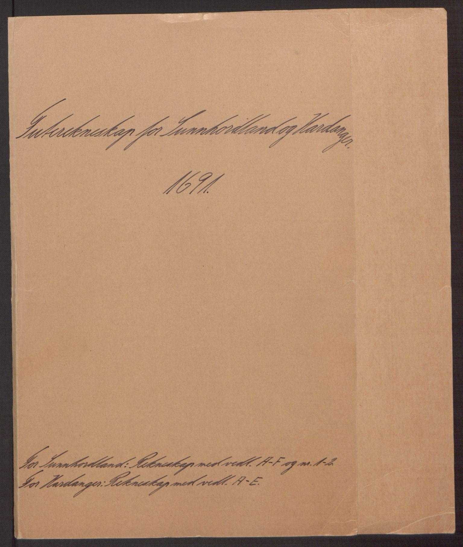 RA, Rentekammeret inntil 1814, Reviderte regnskaper, Fogderegnskap, R48/L2973: Fogderegnskap Sunnhordland og Hardanger, 1691-1692, s. 2