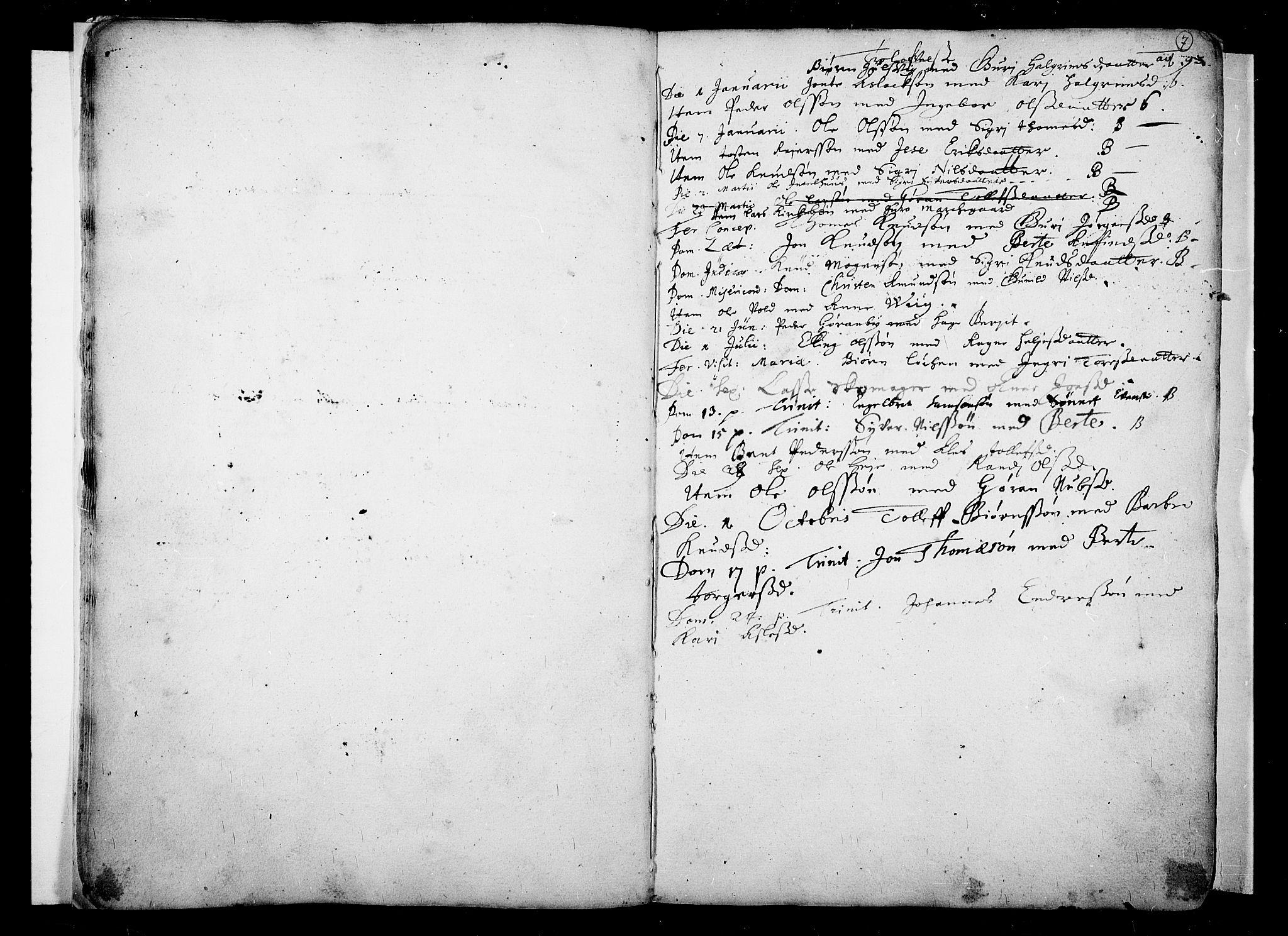 SAKO, Nes kirkebøker, F/Fa/L0001: Ministerialbok nr. 1, 1693-1706, s. 7