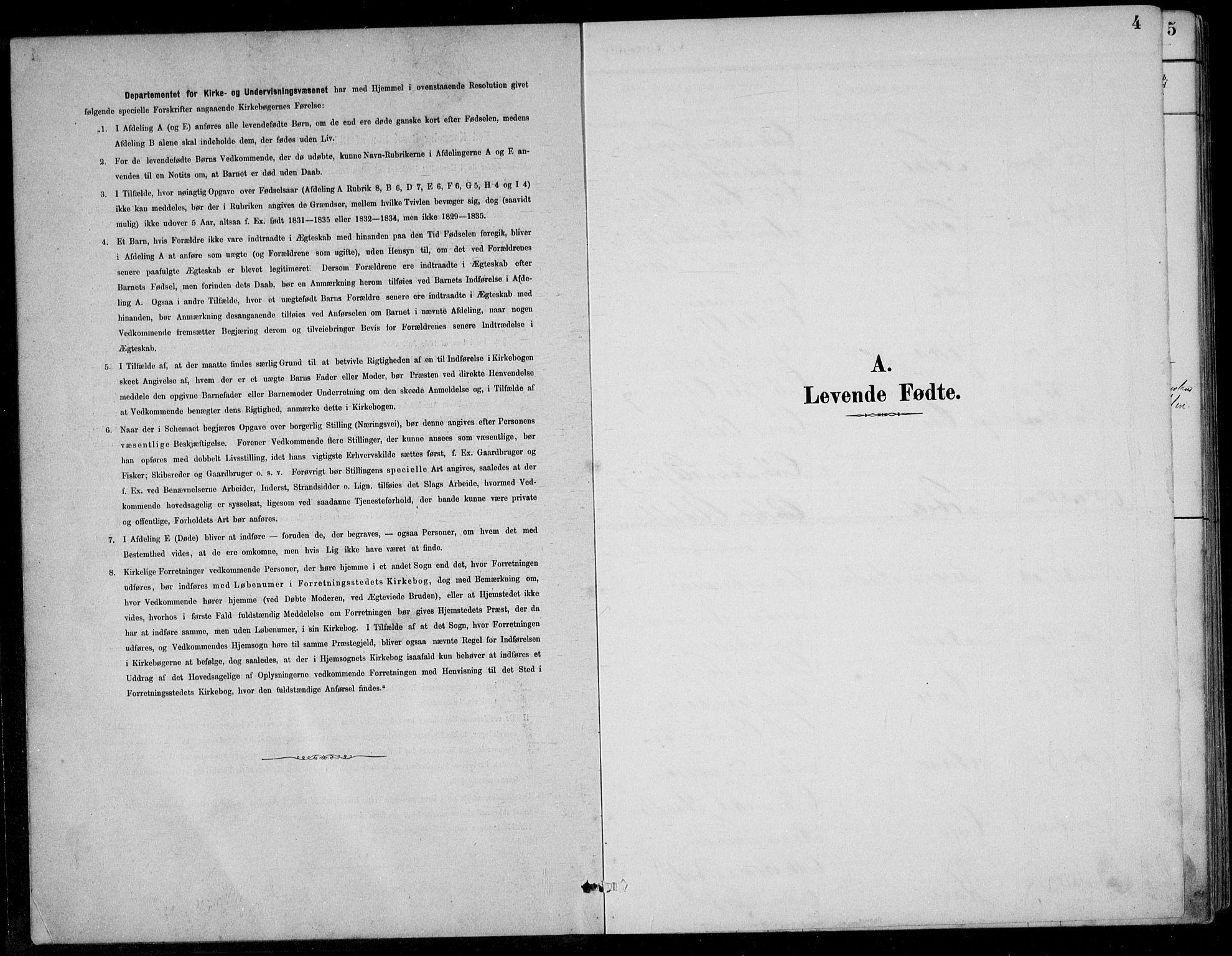 SAK, Bjelland sokneprestkontor, F/Fb/Fbc/L0003: Klokkerbok nr. B 3, 1887-1924, s. 4