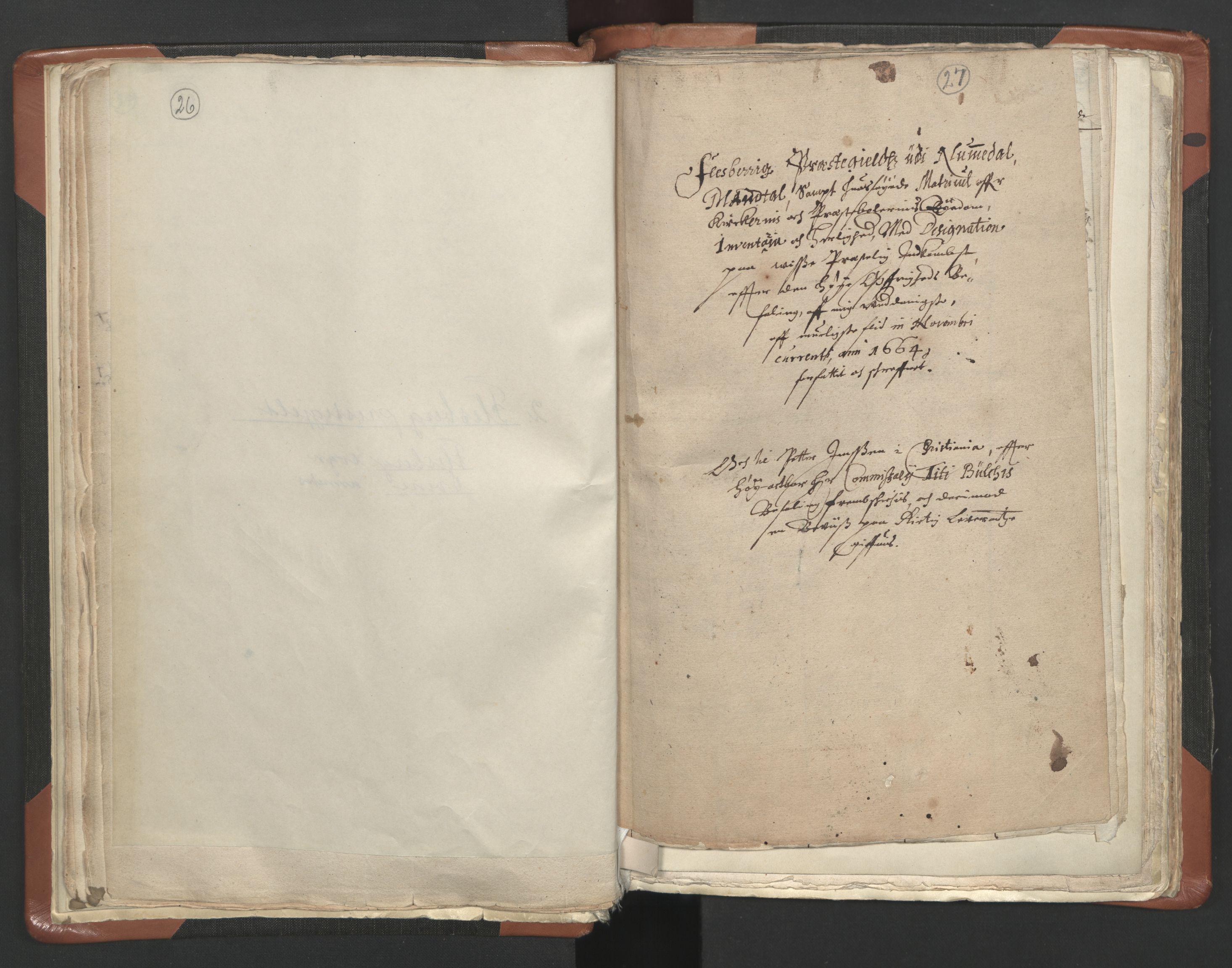 RA, Sogneprestenes manntall 1664-1666, nr. 10: Tønsberg prosti, 1664-1666, s. 26-27