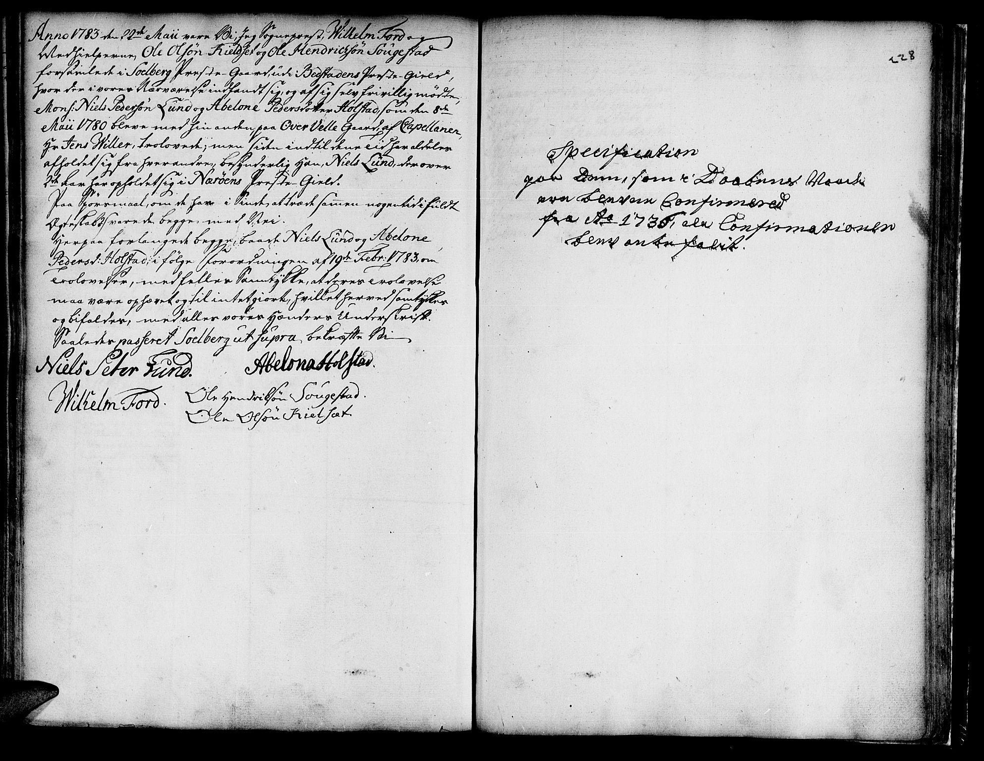 SAT, Ministerialprotokoller, klokkerbøker og fødselsregistre - Nord-Trøndelag, 741/L0385: Ministerialbok nr. 741A01, 1722-1815, s. 228