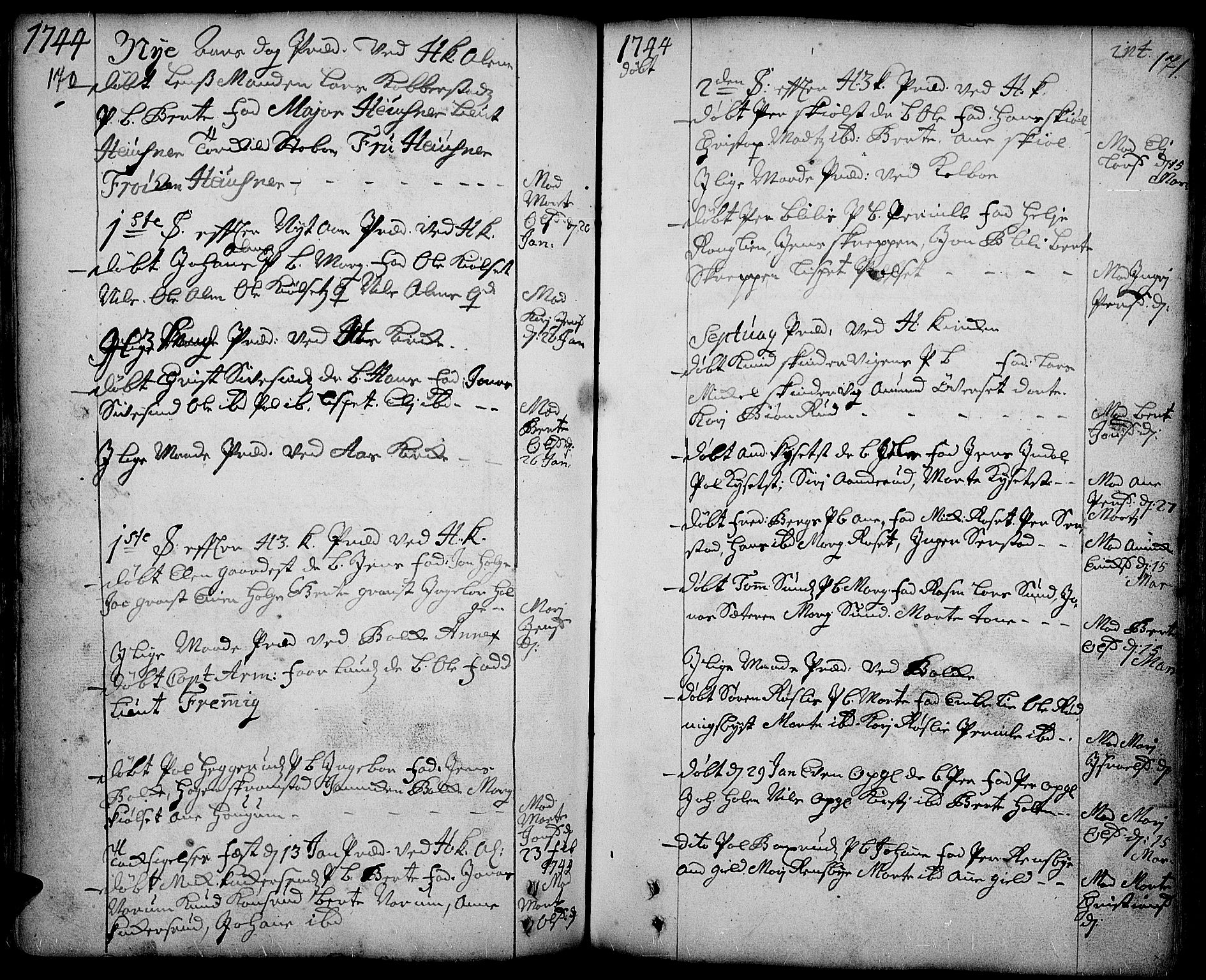 SAH, Toten prestekontor, Ministerialbok nr. 3, 1734-1751, s. 170-171