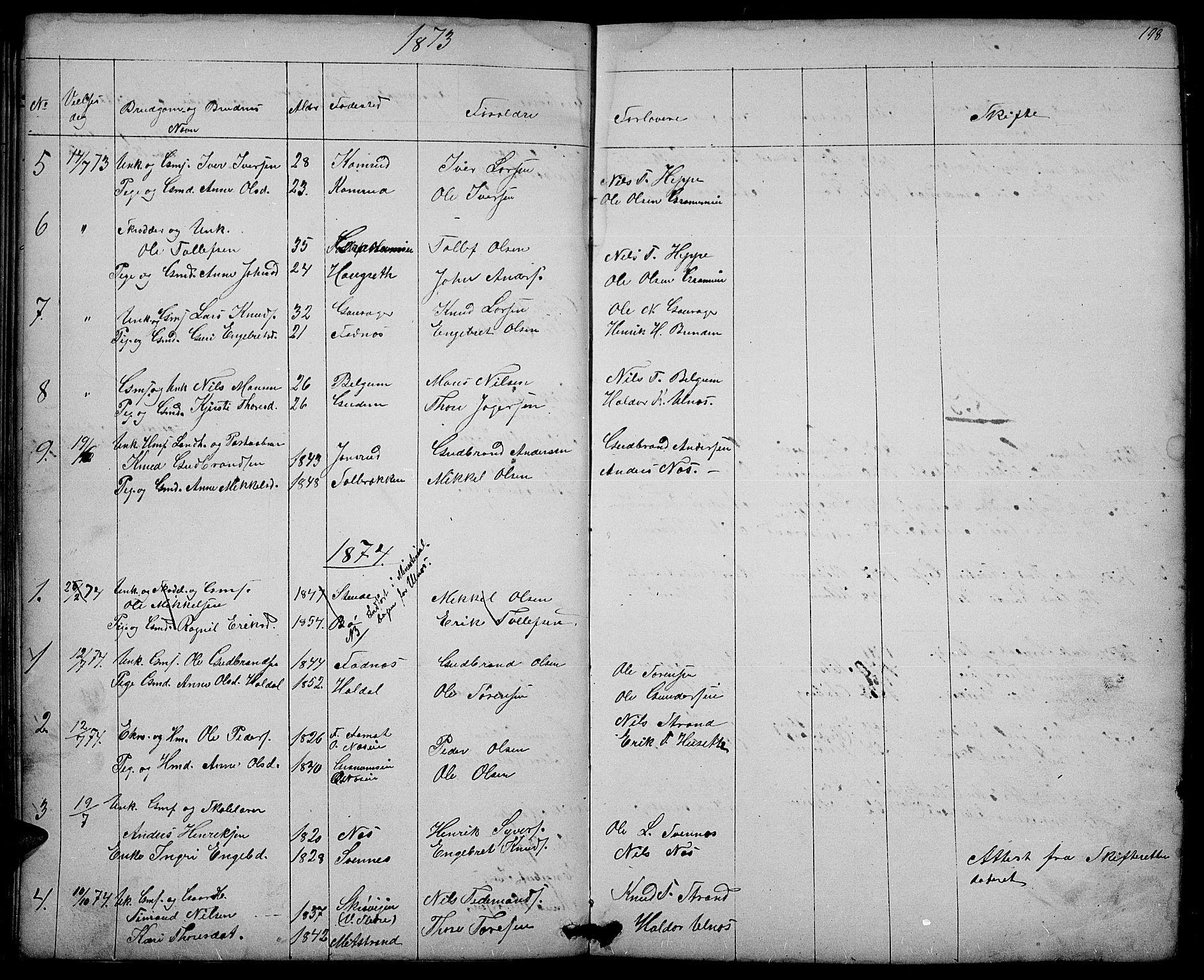 SAH, Nord-Aurdal prestekontor, Klokkerbok nr. 3, 1842-1882, s. 198